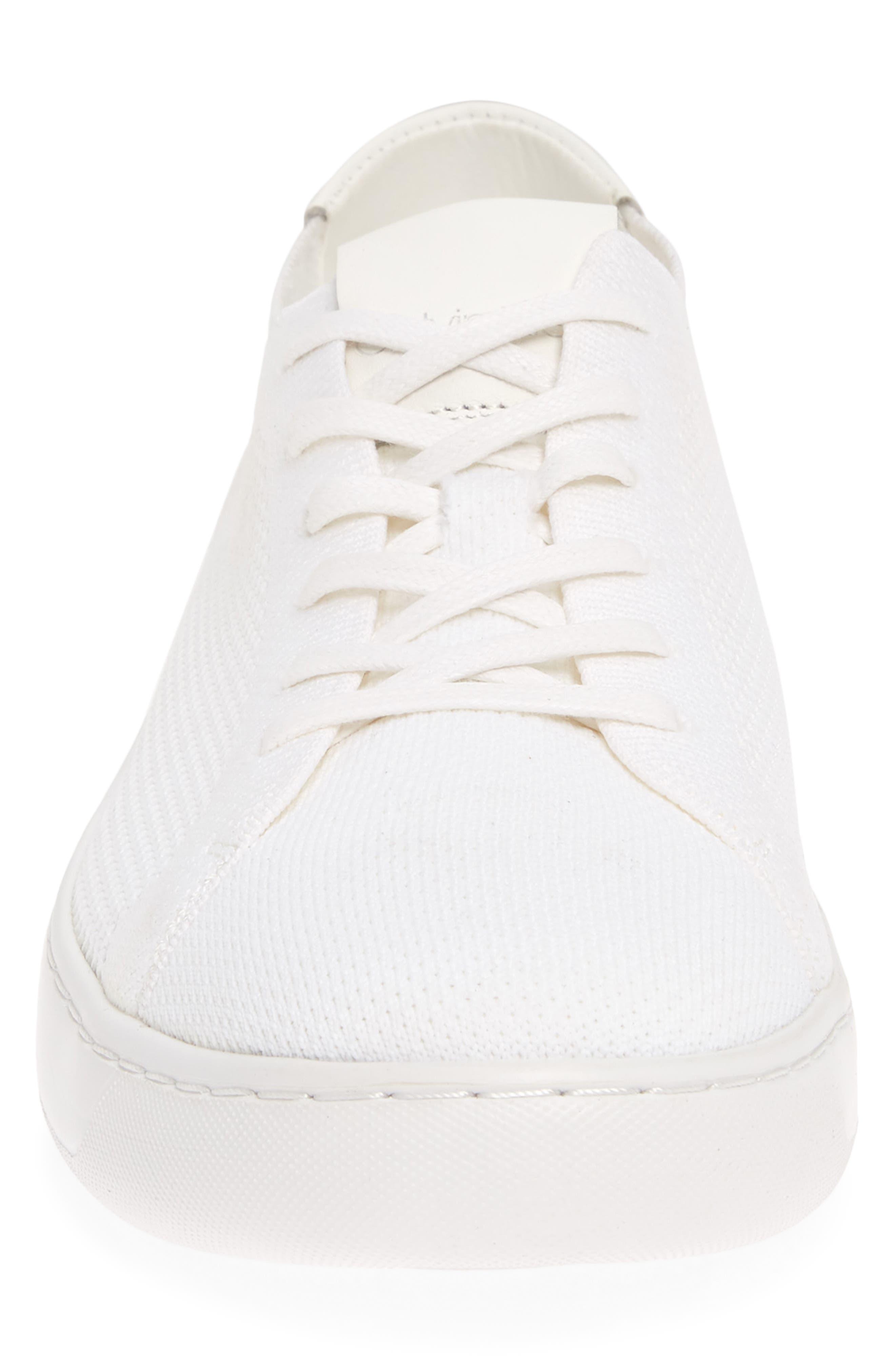 CALVIN KLEIN, Freeport Sneaker, Alternate thumbnail 4, color, WHITE