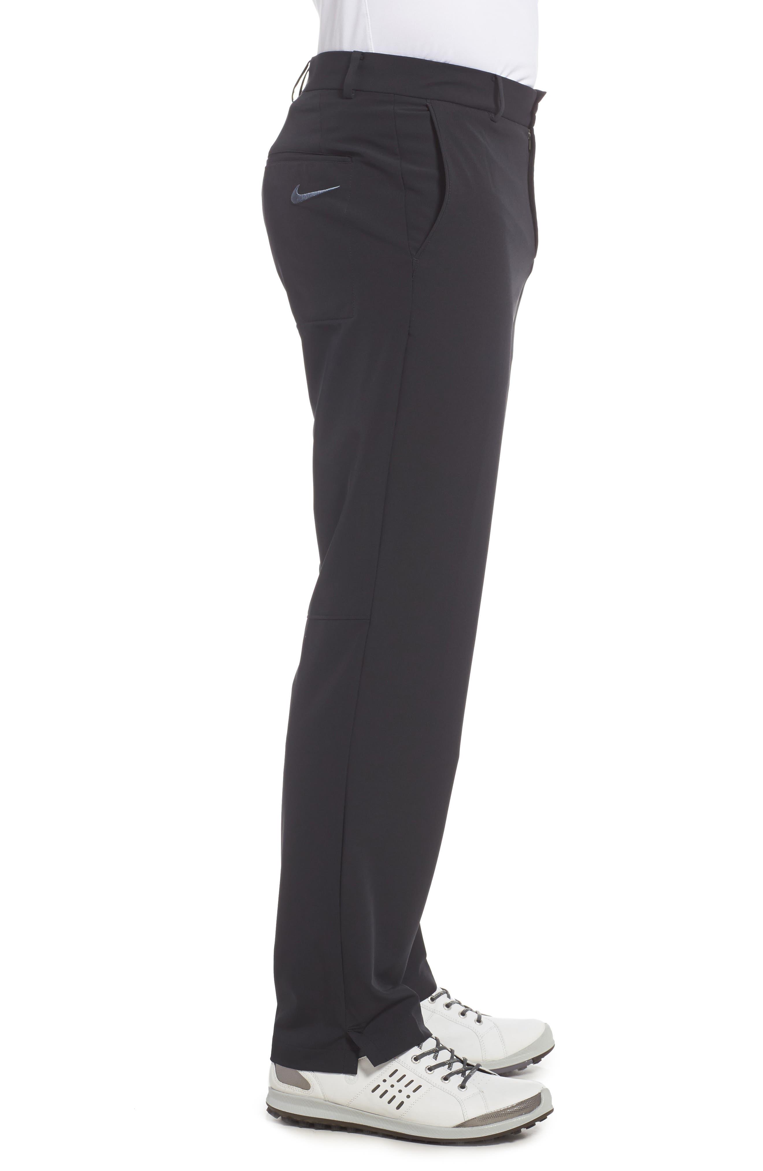 NIKE, Hybrid Flex Golf Pants, Alternate thumbnail 4, color, 010