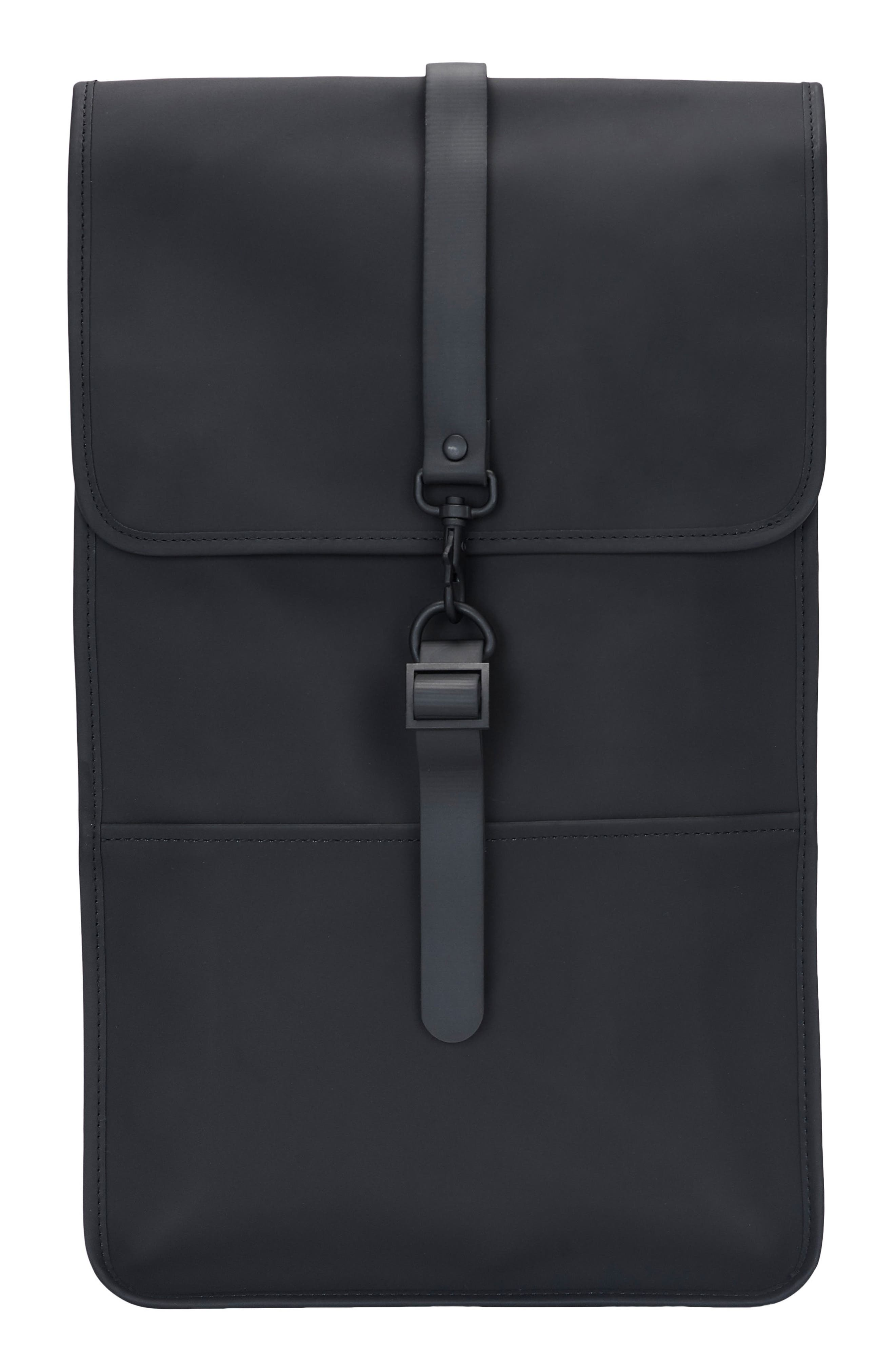 RAINS, Waterproof Backpack, Main thumbnail 1, color, BLACK
