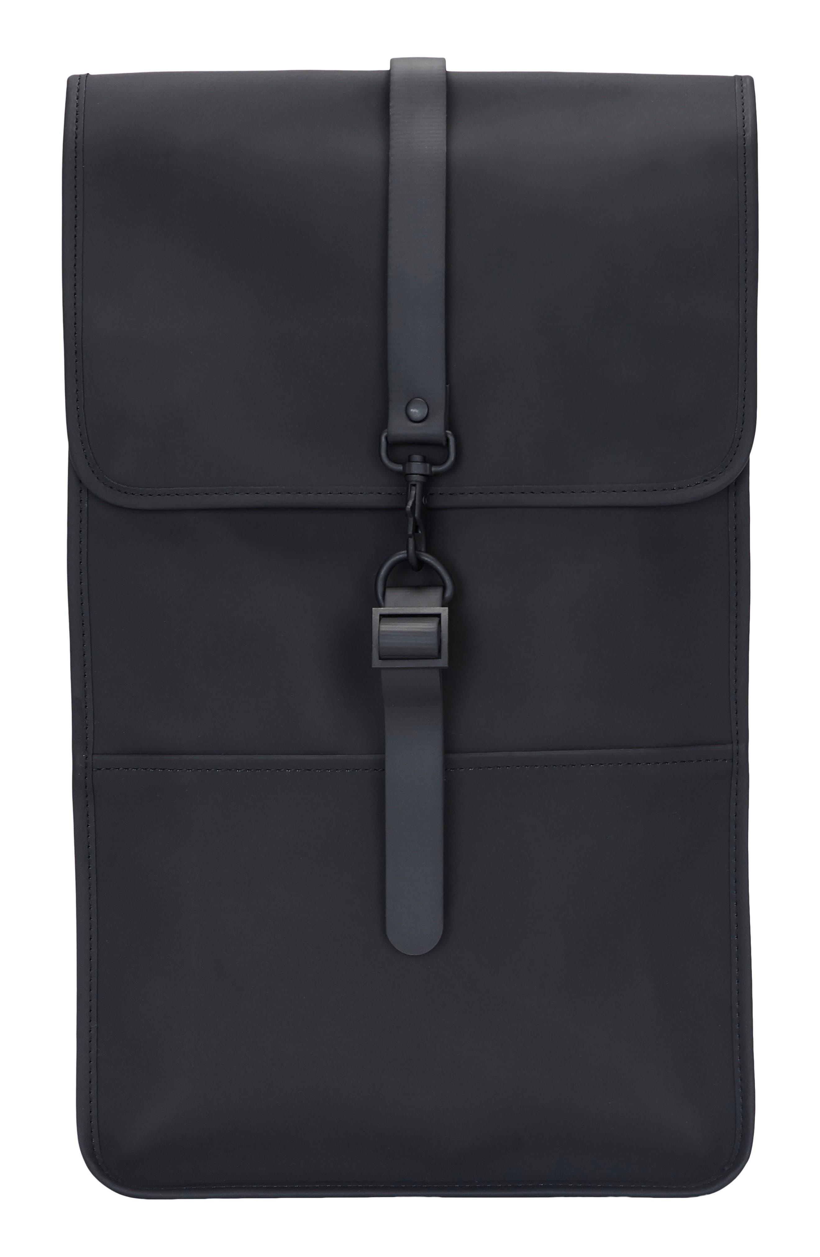 RAINS Waterproof Backpack, Main, color, BLACK