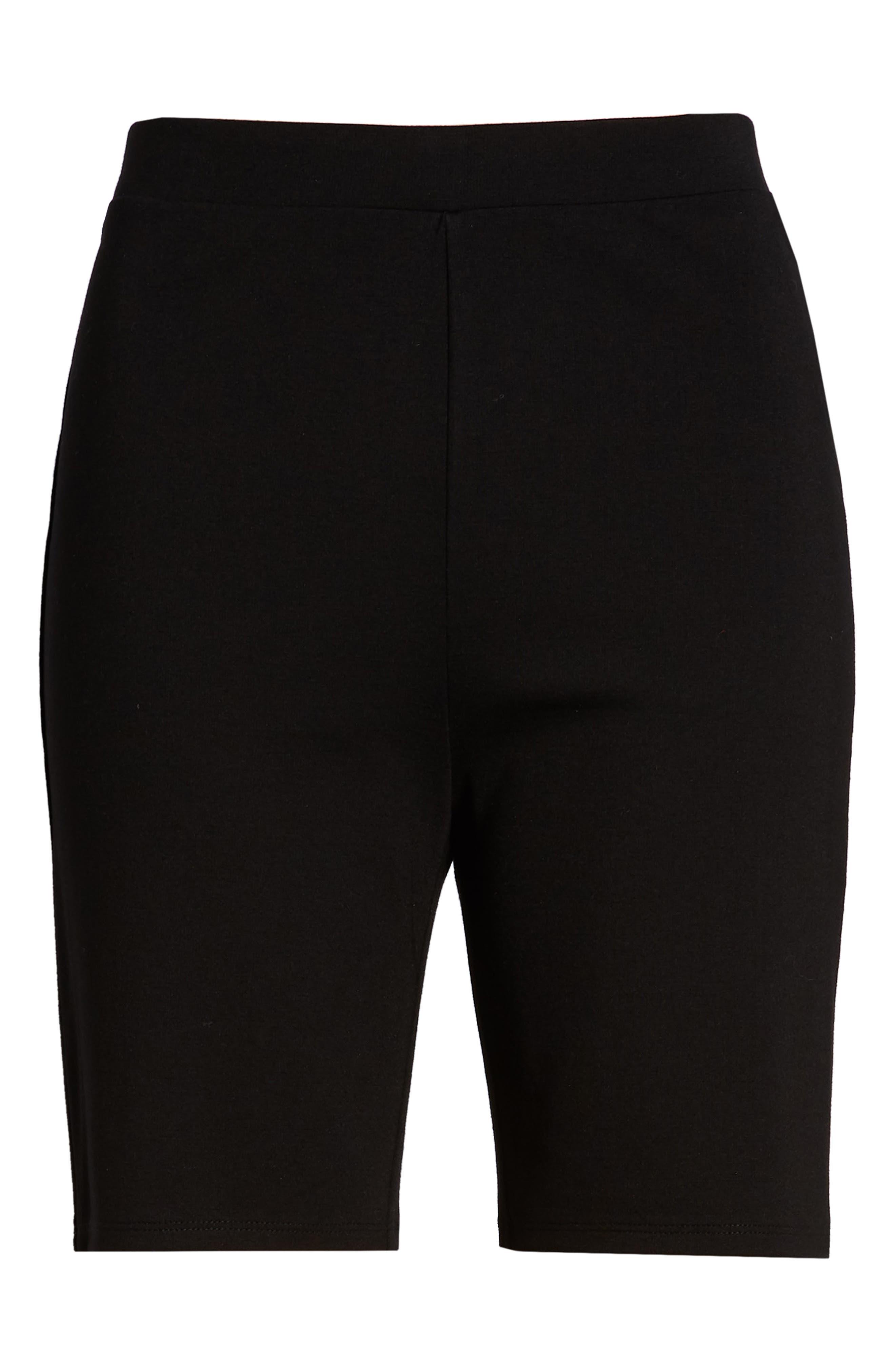 SOMETHING NAVY, Bike Shorts, Alternate thumbnail 7, color, 001
