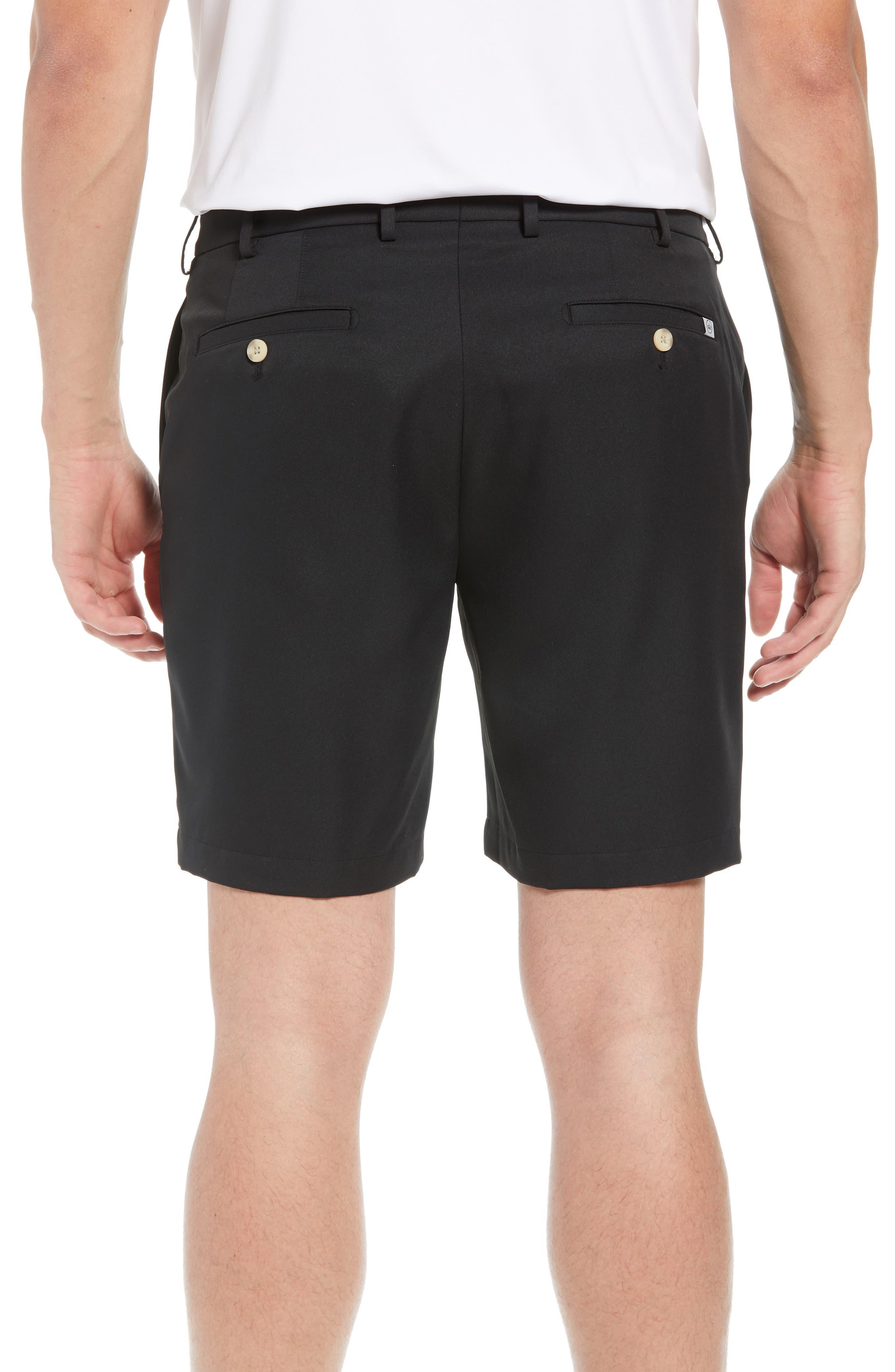 PETER MILLAR, Salem High Drape Performance Shorts, Alternate thumbnail 2, color, BLACK