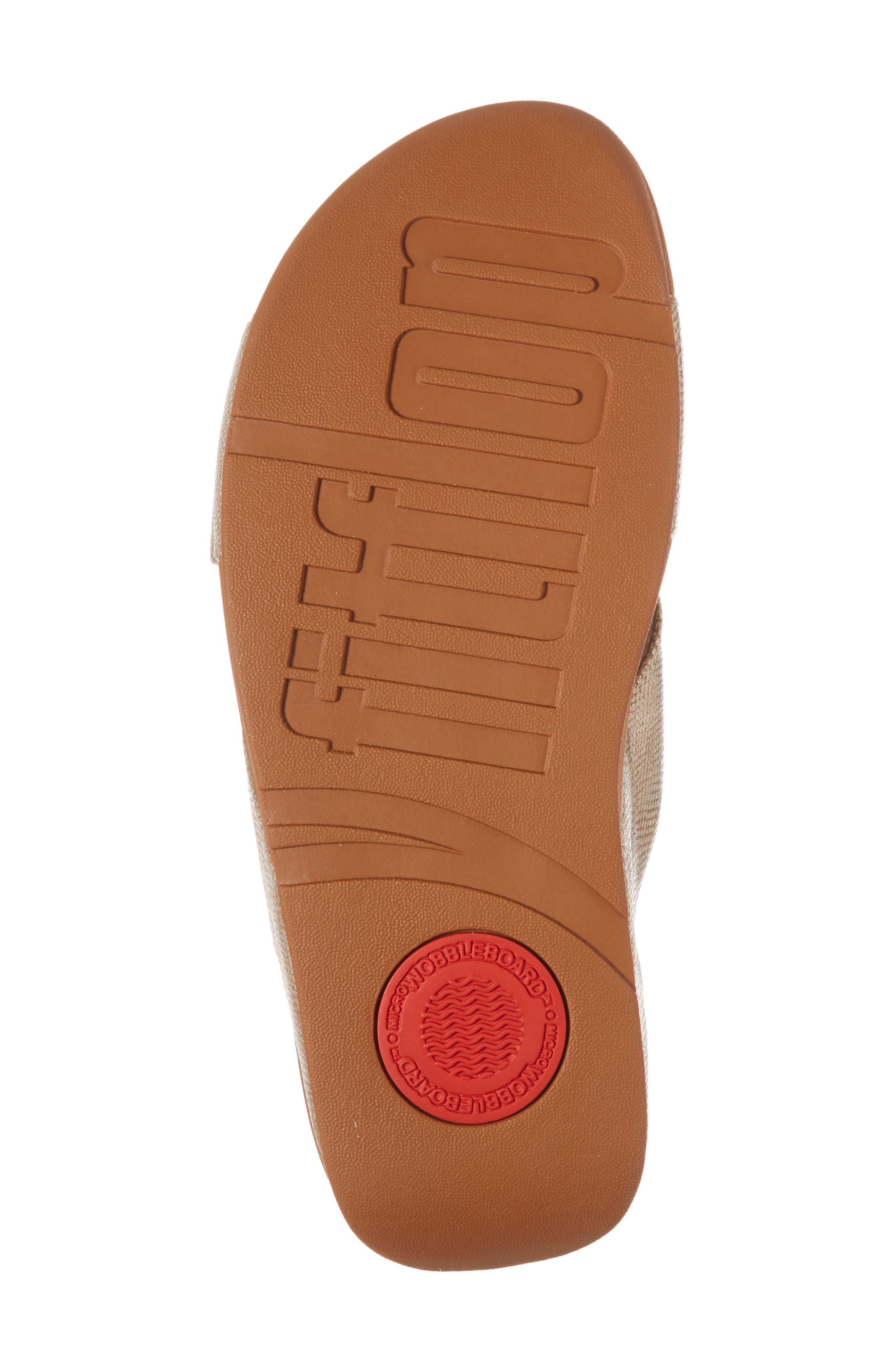 FITFLOP, Lulu Cross Slide Sandal, Alternate thumbnail 6, color, GOLD SHIMMER PRINT