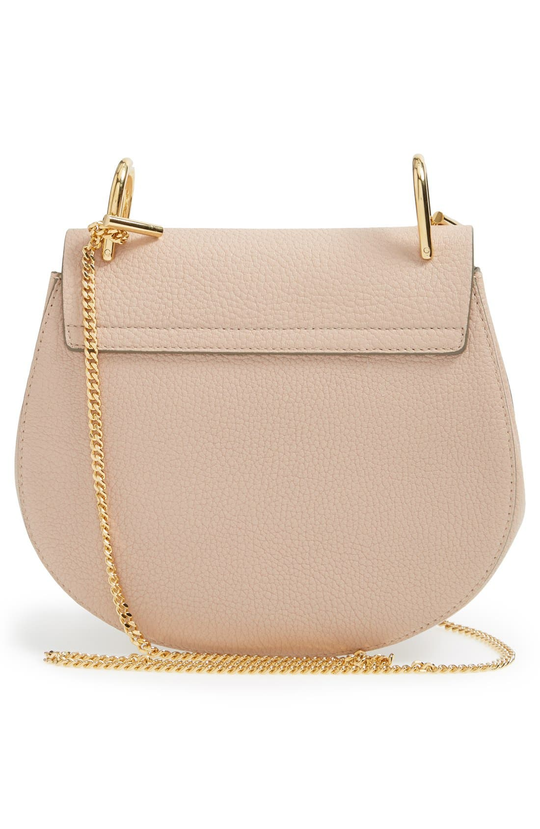 CHLOÉ, Drew Leather Shoulder Bag, Alternate thumbnail 4, color, 650