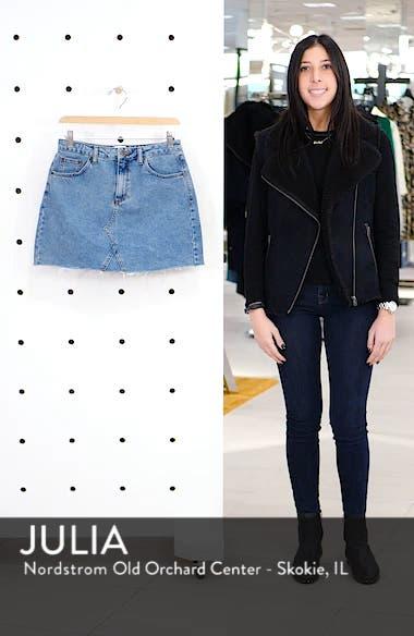 Urban Outfitters Denim Raw Edge Miniskirt, sales video thumbnail