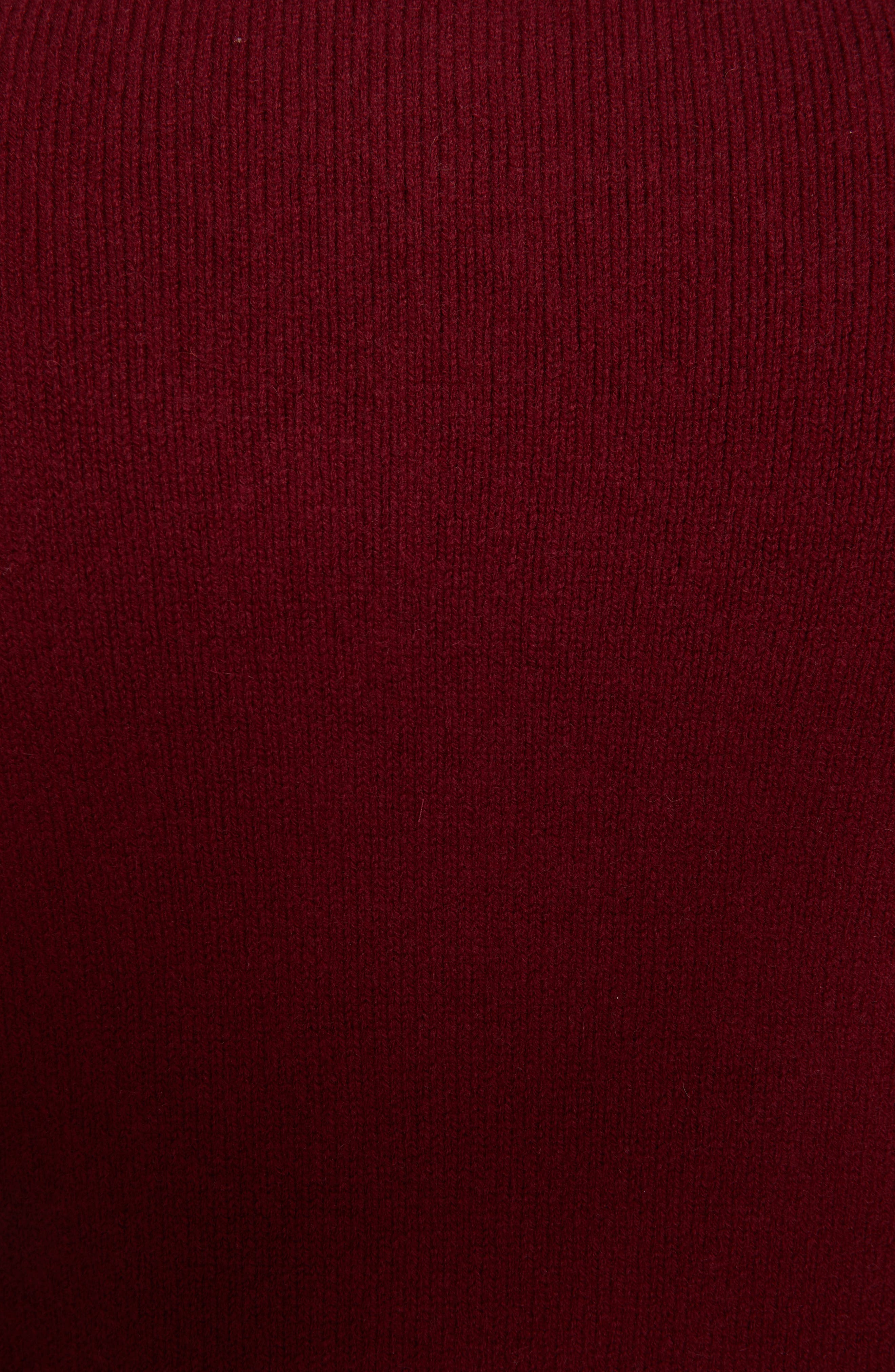 MONCLER, Maglione Cashmere Sweater, Alternate thumbnail 5, color, 601