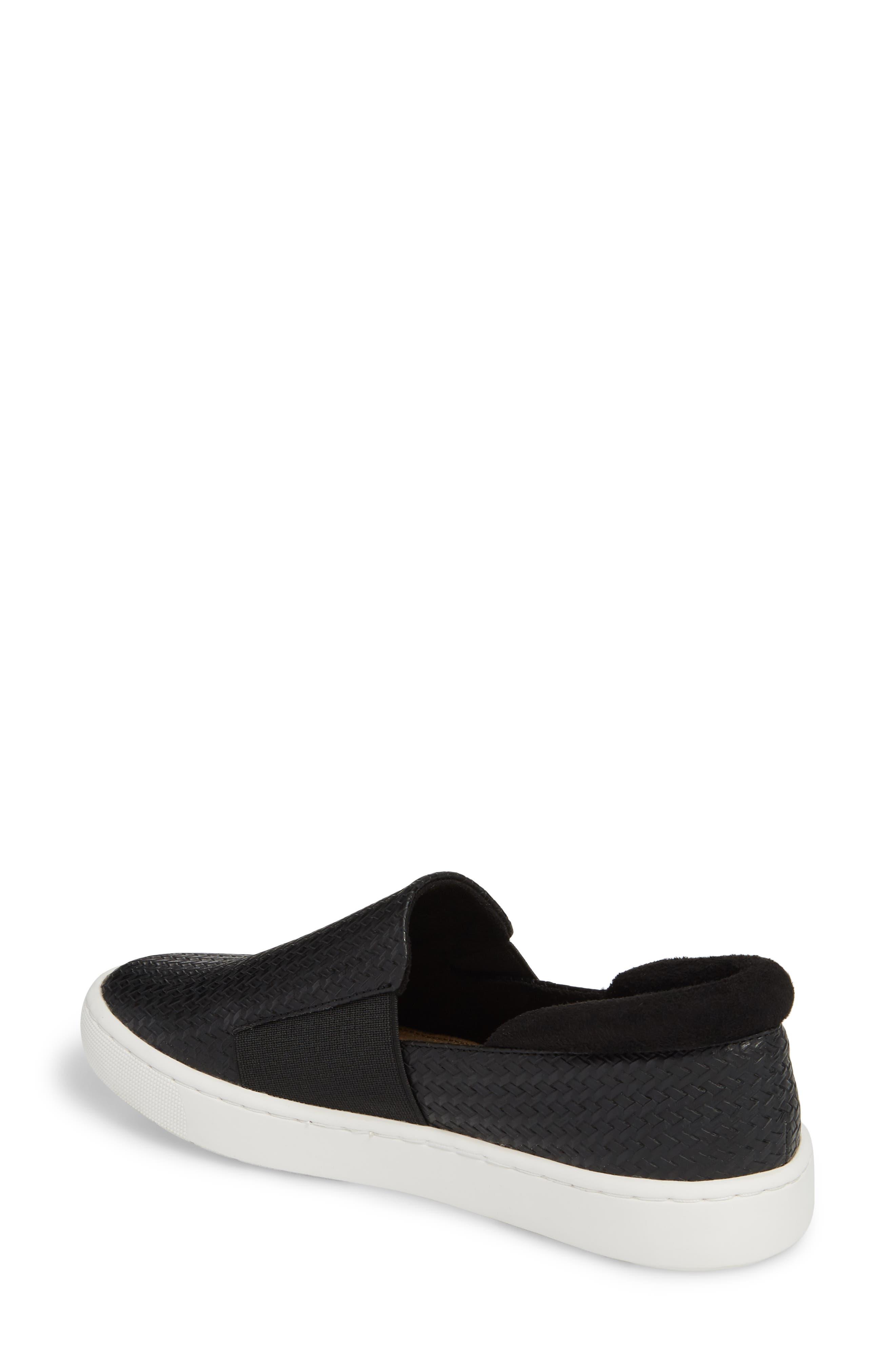BELLA VITA, Ramp II Slip-On Sneaker, Alternate thumbnail 2, color, BLACK FABRIC