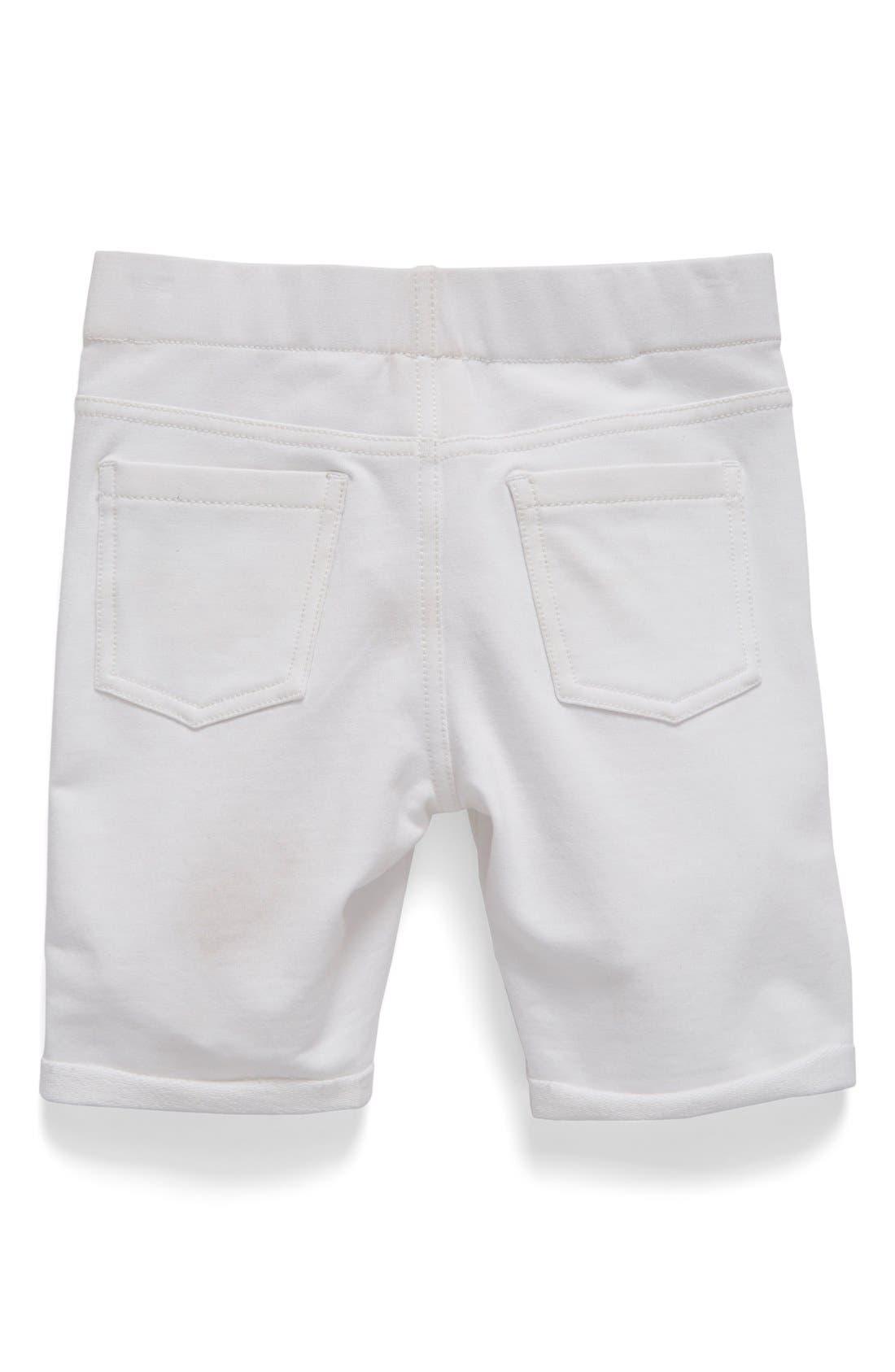 TUCKER + TATE, 'Jenna' Jegging Shorts, Alternate thumbnail 4, color, WHITE