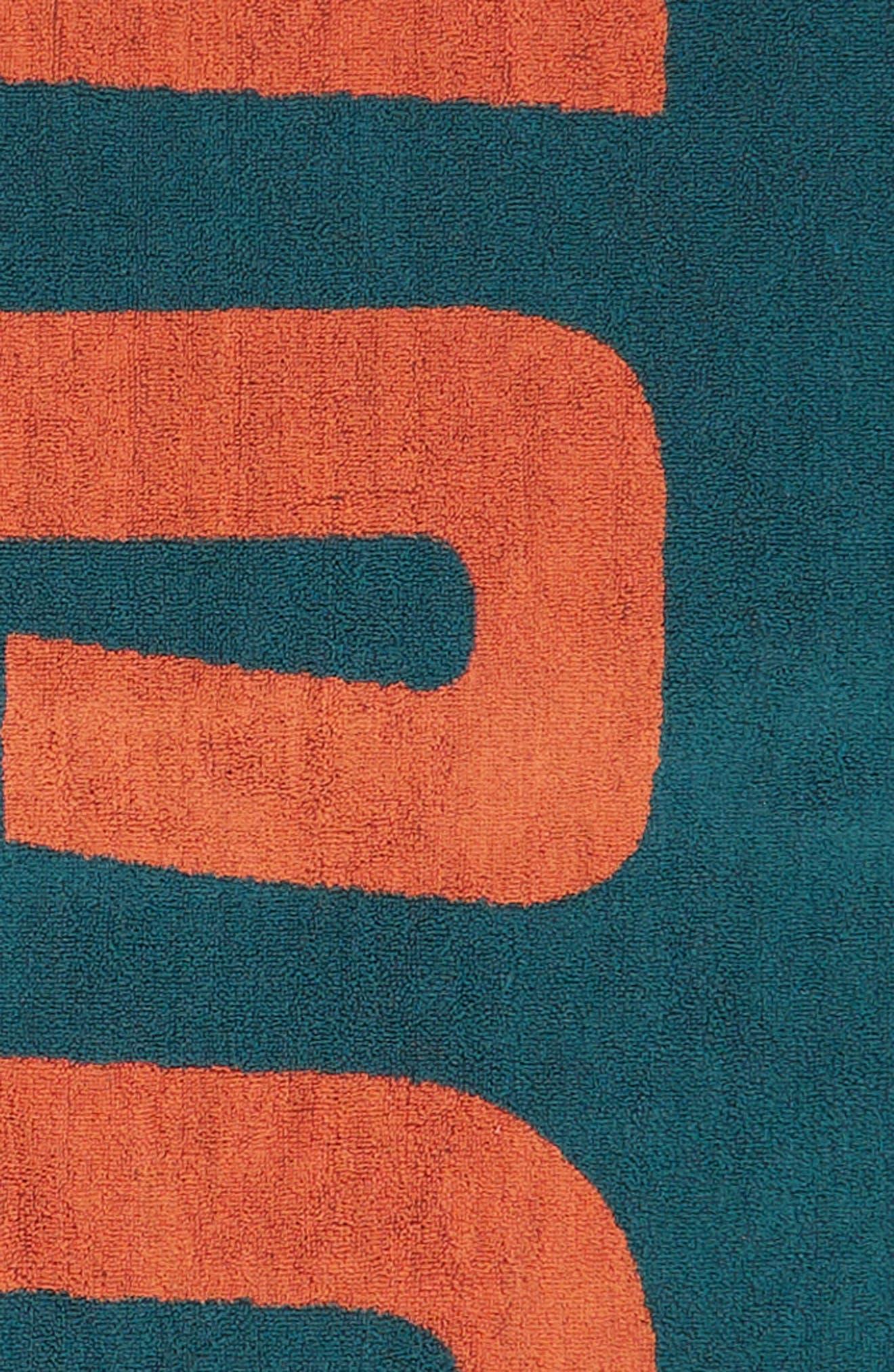 RVCA, Beach Towel, Alternate thumbnail 2, color, CASCADE BLUE