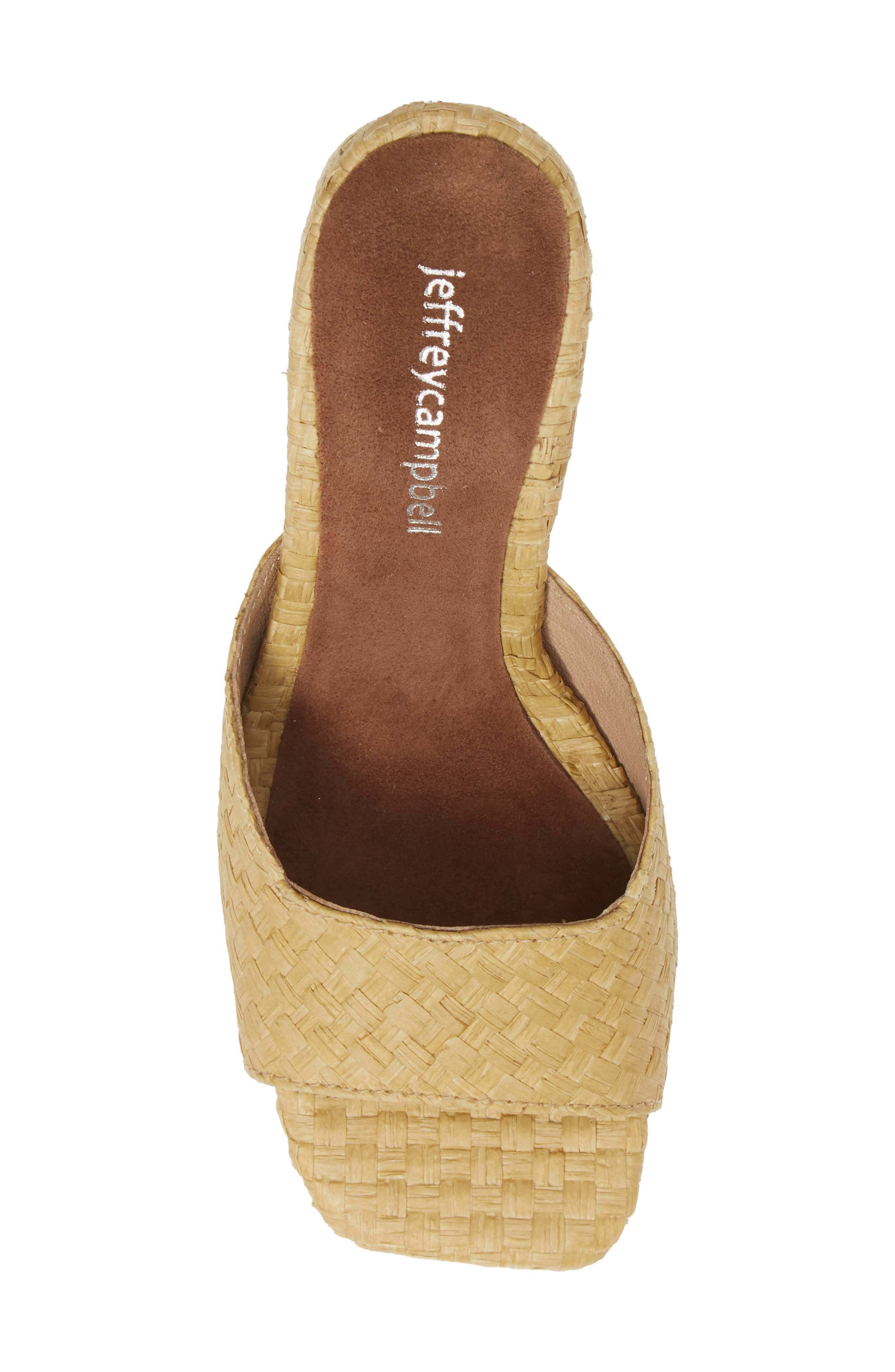JEFFREY CAMPBELL, Mélange Raffia Slide Sandal, Alternate thumbnail 5, color, 200