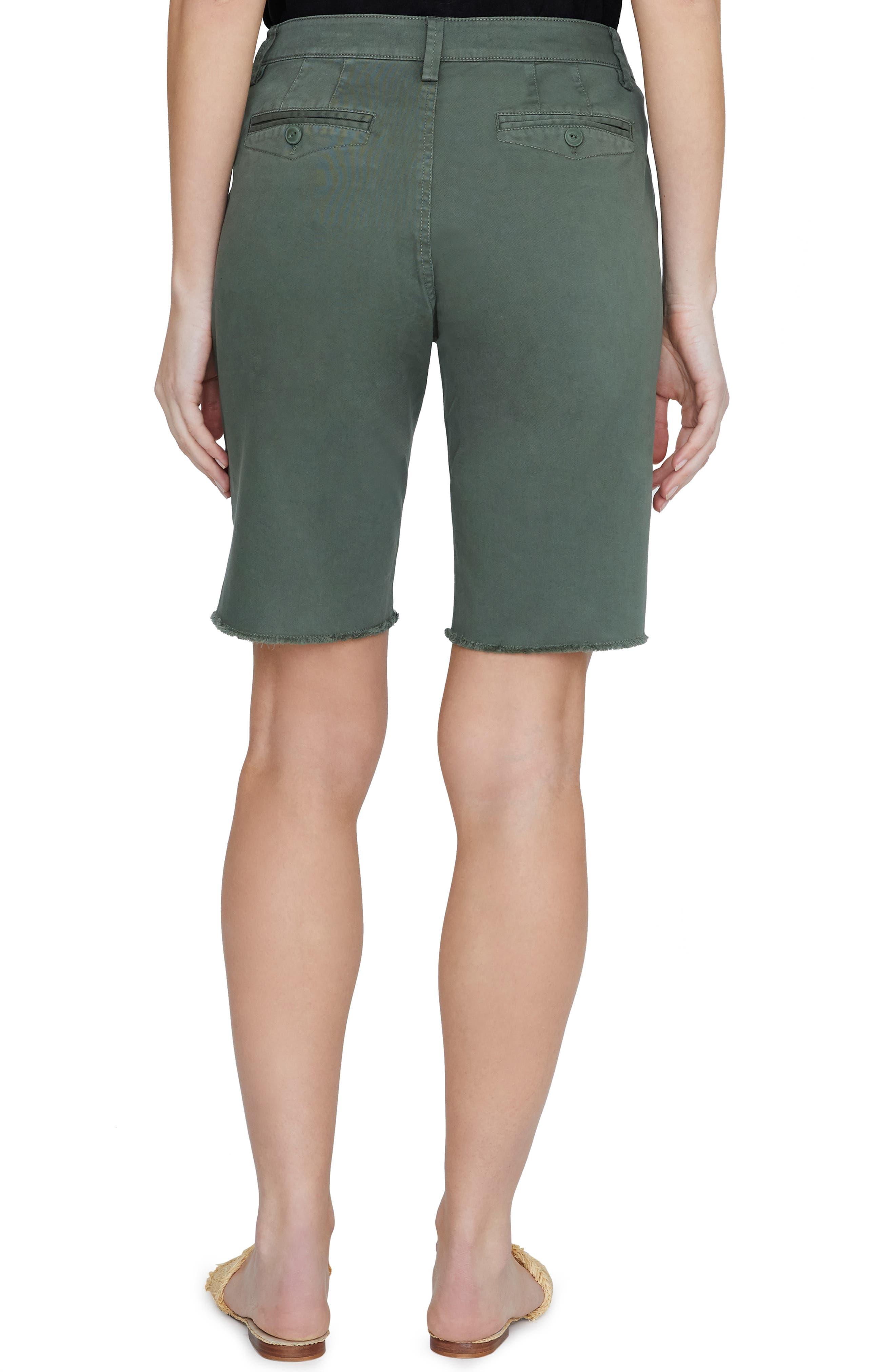 SANCTUARY, Boardwalk Bermuda Shorts, Alternate thumbnail 2, color, PEACE GREEN