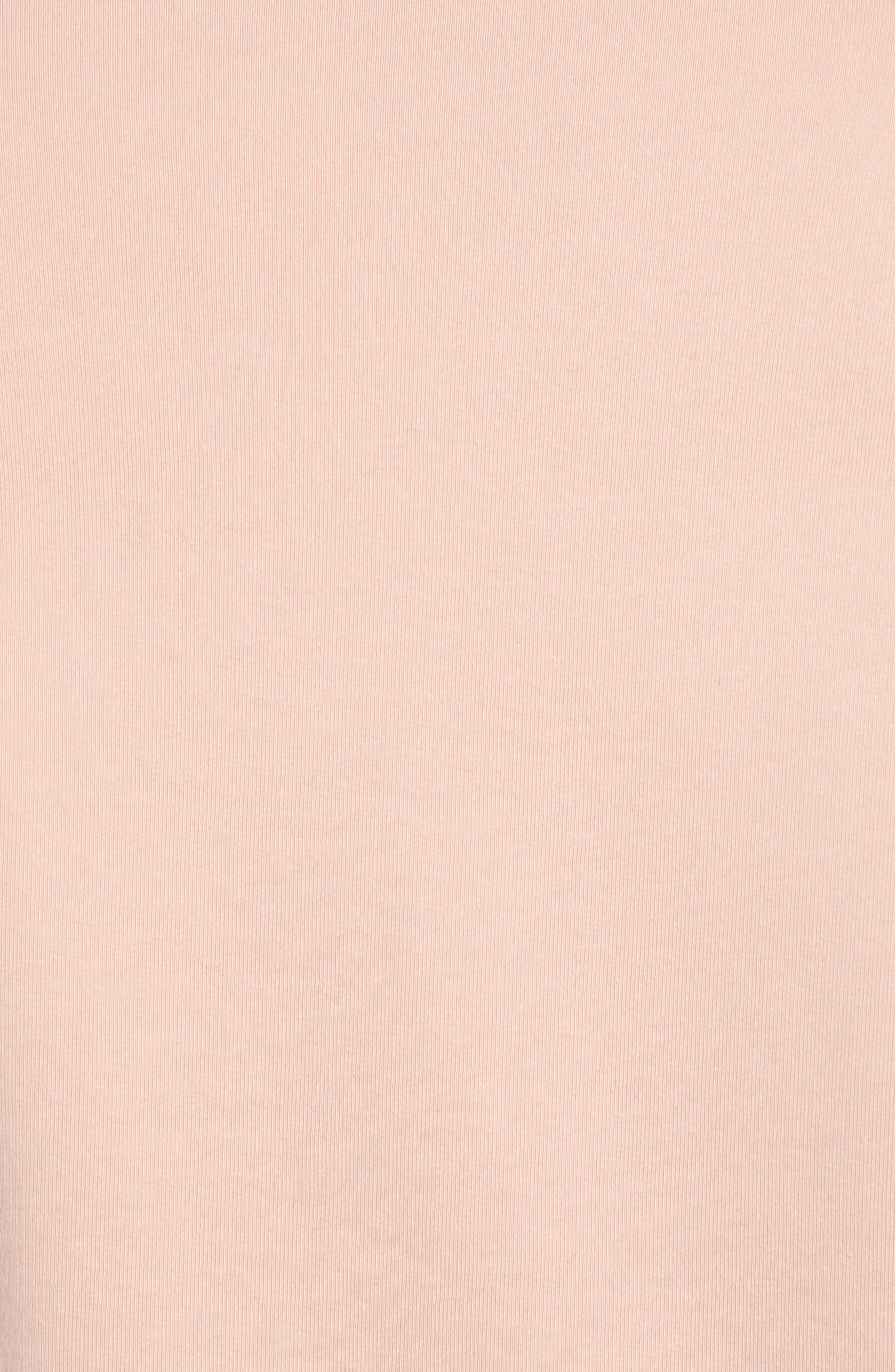 RICHER POORER, Crewneck Cotton Sweatshirt, Alternate thumbnail 5, color, BLUSH