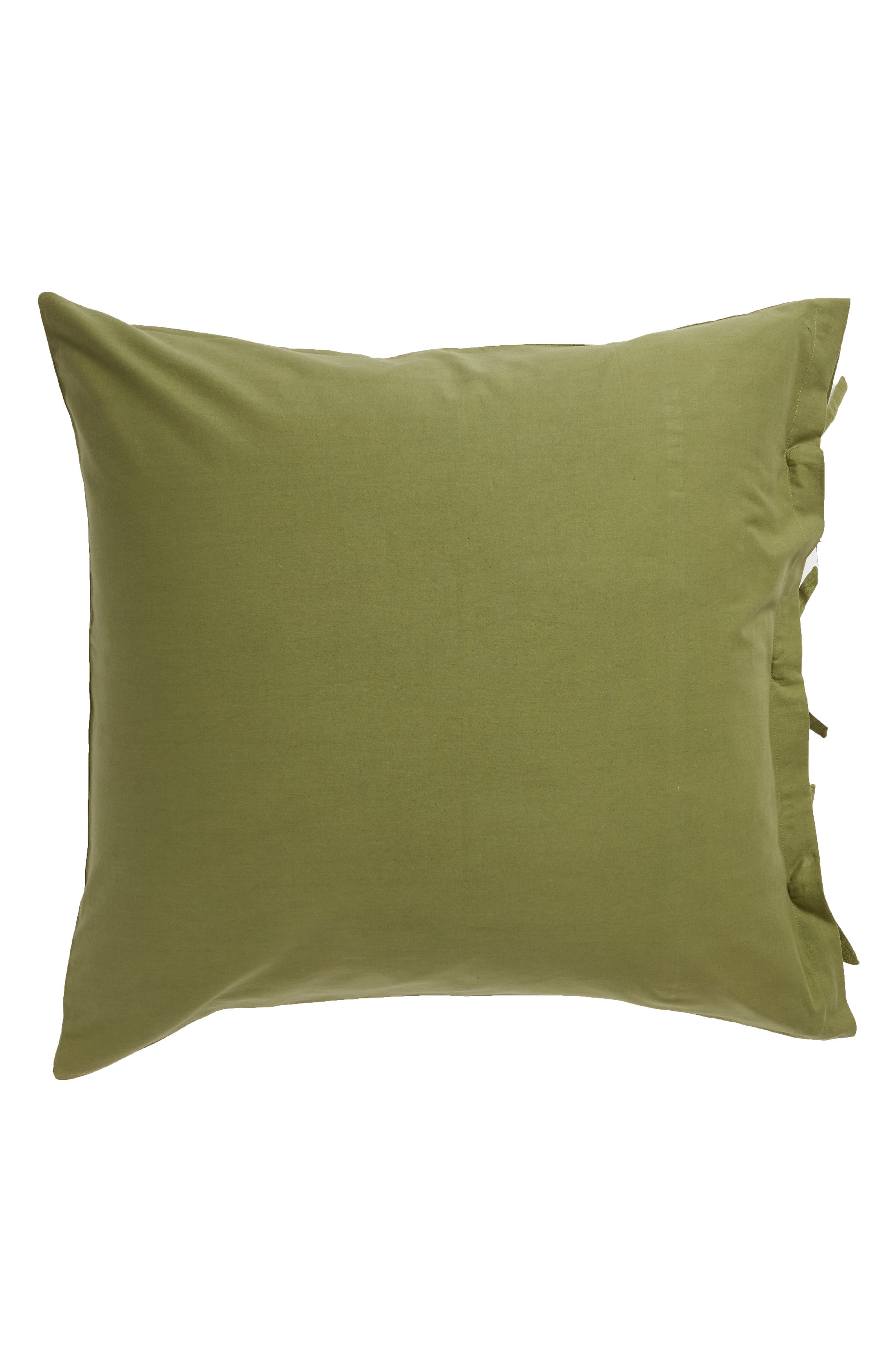 TREASURE & BOND, Relaxed Cotton & Linen Euro Sham, Alternate thumbnail 2, color, OLIVE SPICE