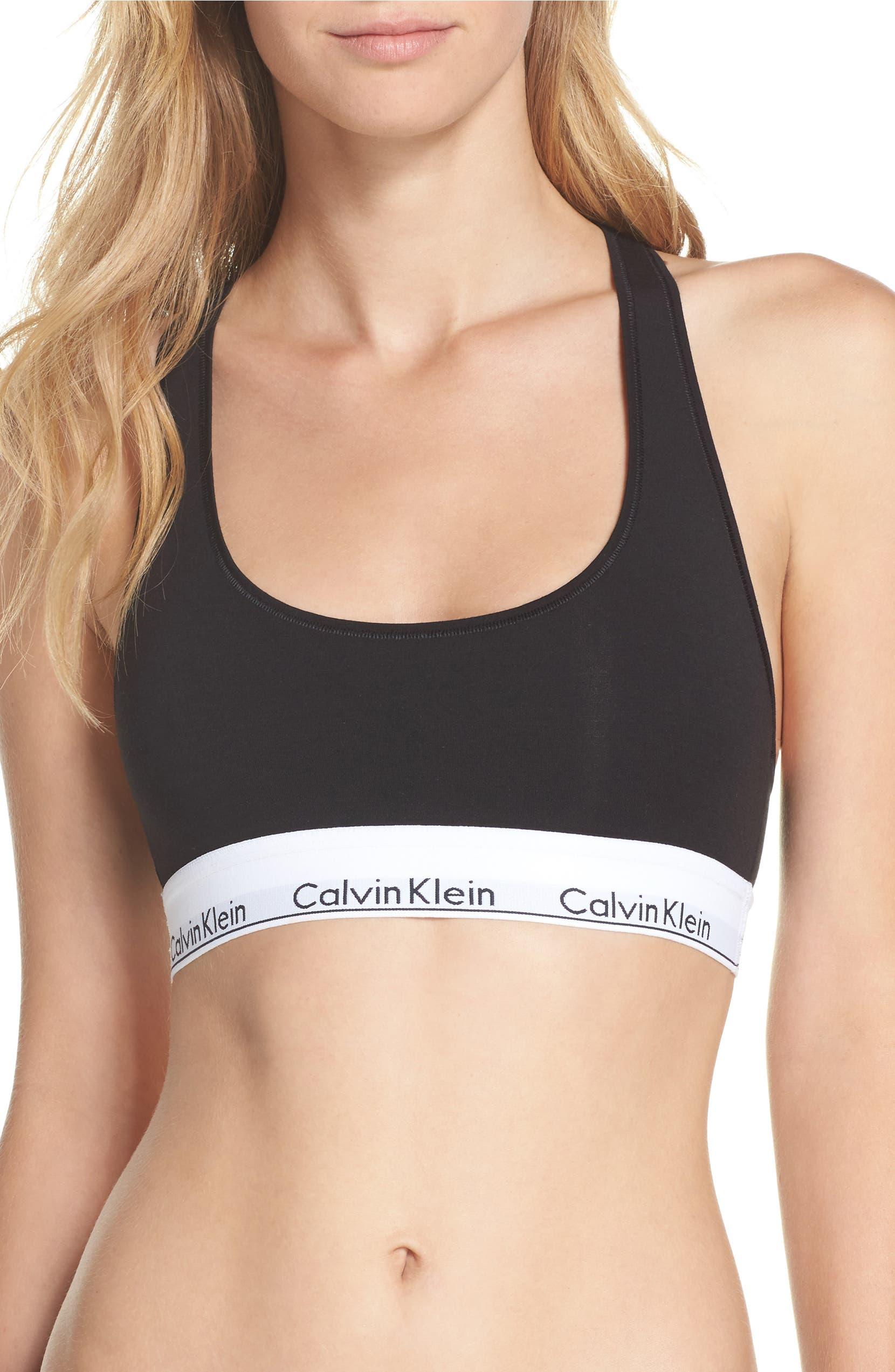 5ed70651909 Calvin Klein Modern Cotton Collection Cotton Blend Racerback Bralette