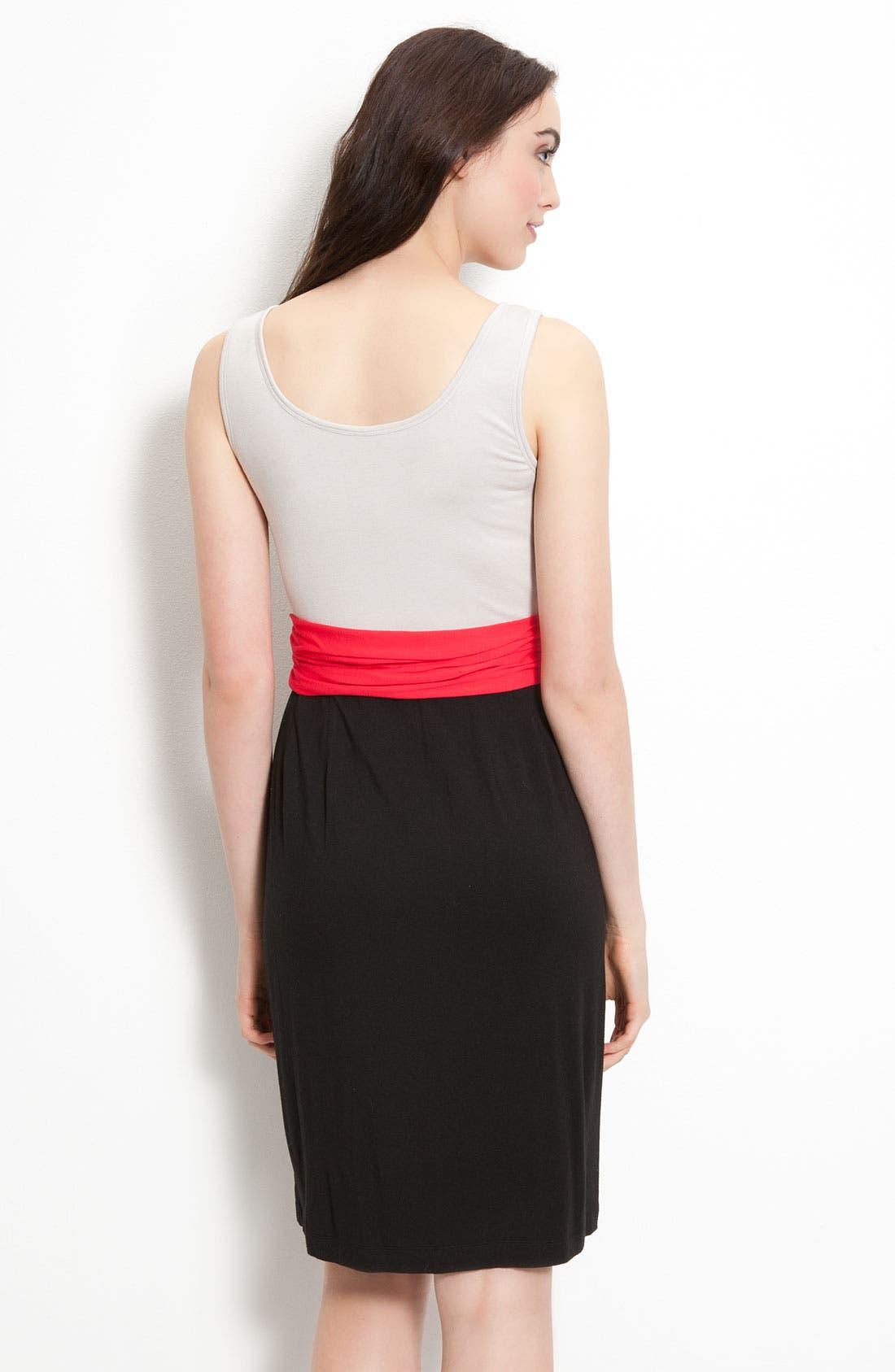 DKNYC, Sleeveless V-Neck Dress, Alternate thumbnail 2, color, 600