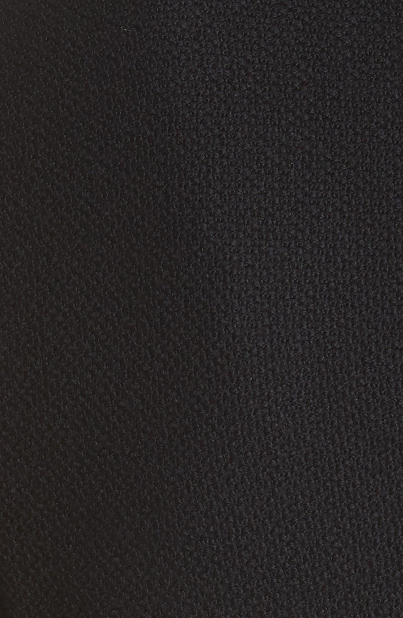 ST. JOHN COLLECTION, Gail Knit Dress, Alternate thumbnail 6, color, CAVIAR/ CAVIAR