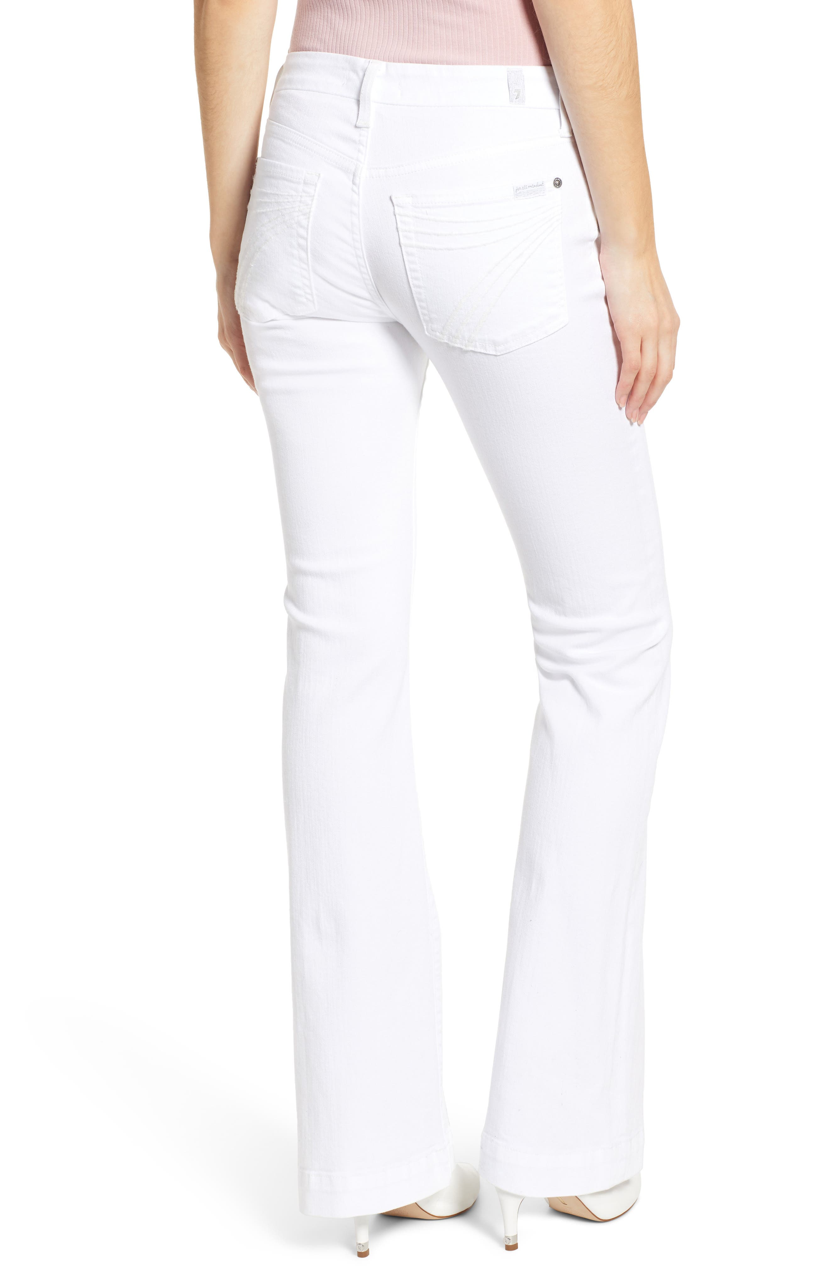 7 FOR ALL MANKIND<SUP>®</SUP>, Dojo Flare Jeans, Alternate thumbnail 2, color, WHITE RUNWAY DENIM