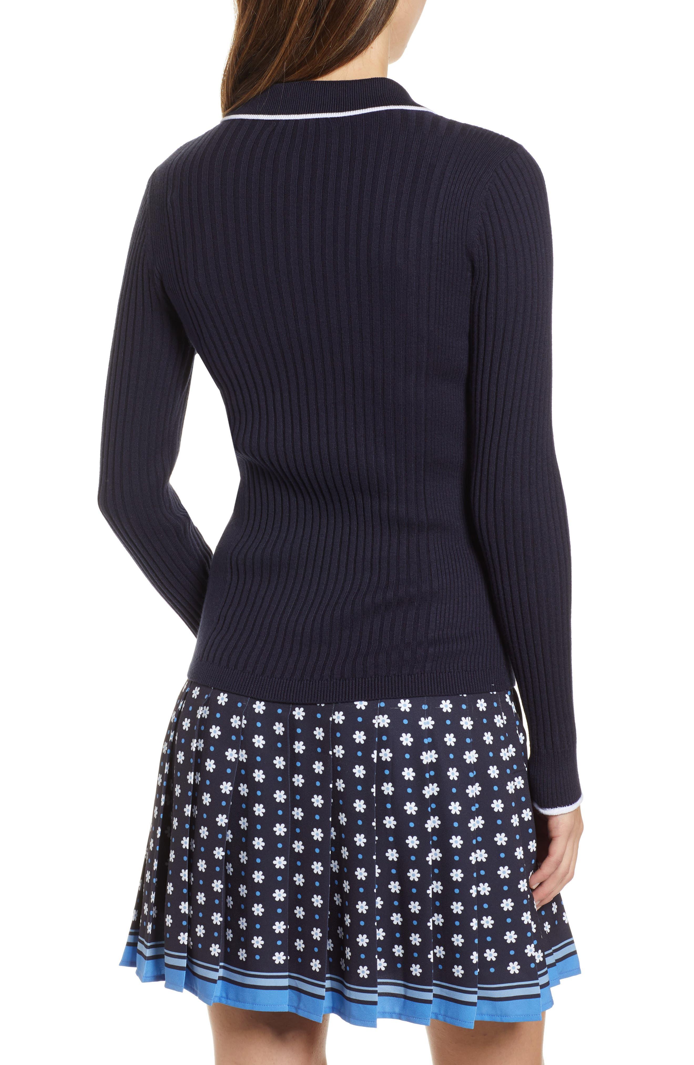 1901, Long Sleeve Polo Sweater, Alternate thumbnail 2, color, 410