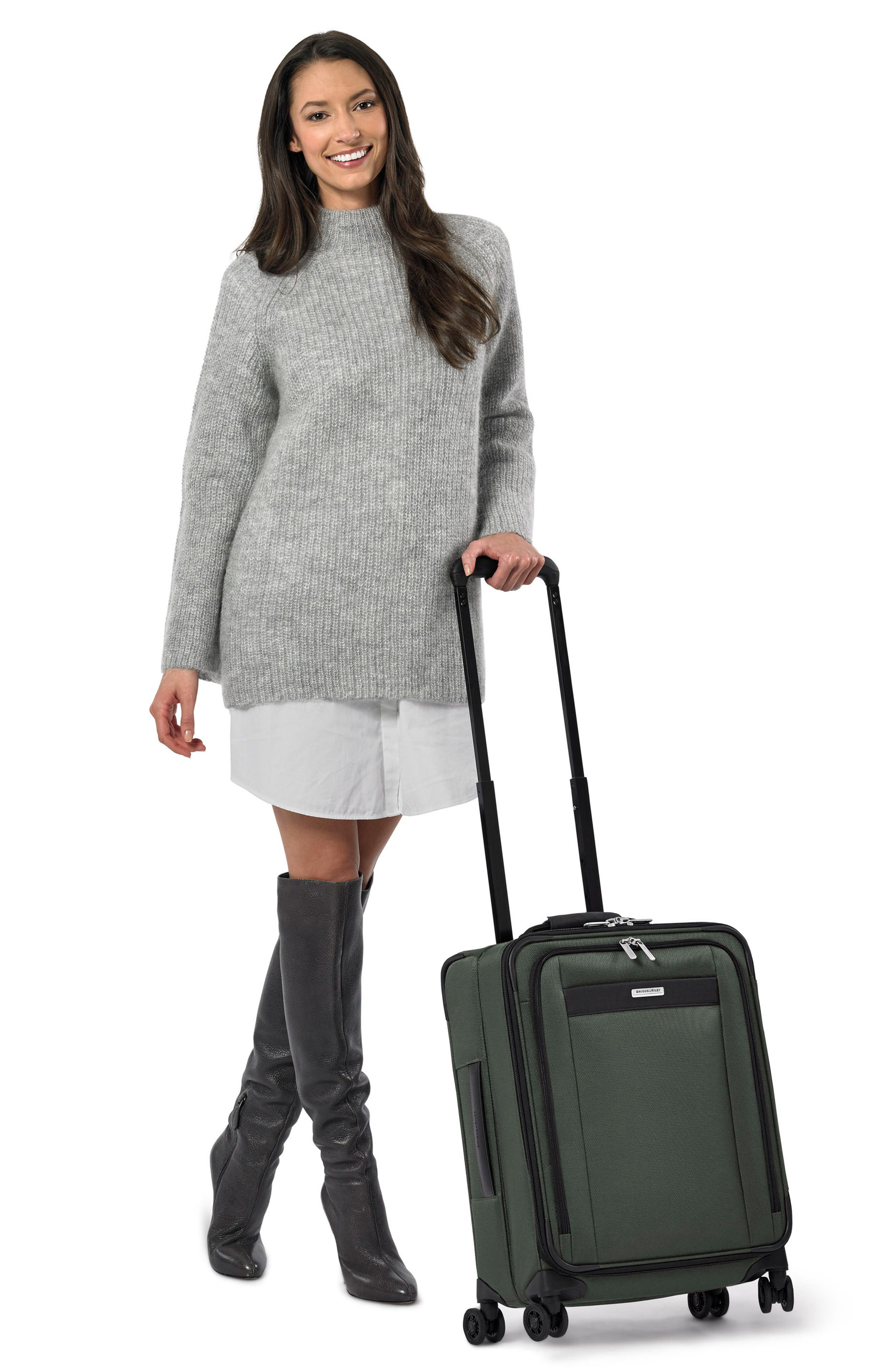 BRIGGS & RILEY, Transcend VX Wide Expandable 21-Inch Spinner Suitcase, Alternate thumbnail 7, color, RAINFOREST GREEN