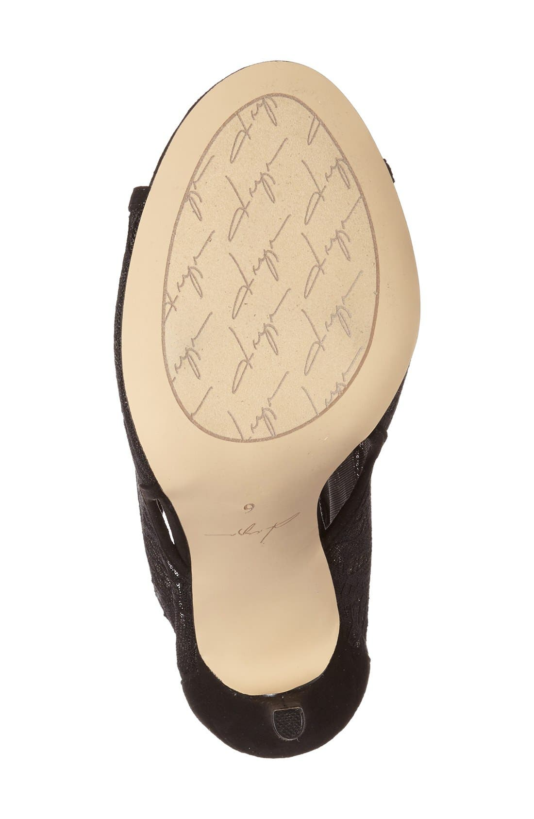 DAYA, by Zendaya 'Angus' Lace Open Toe Bootie, Alternate thumbnail 4, color, 008