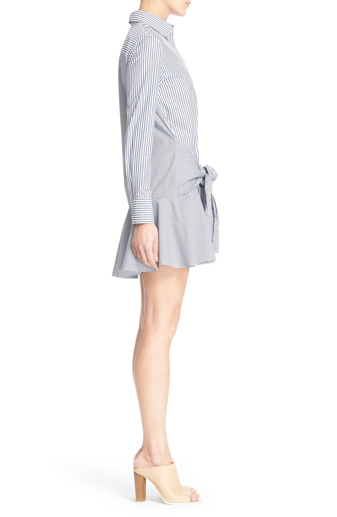 DEREK LAM 10 CROSBY, Tie Waist Shirtdress, Alternate thumbnail 2, color, 419