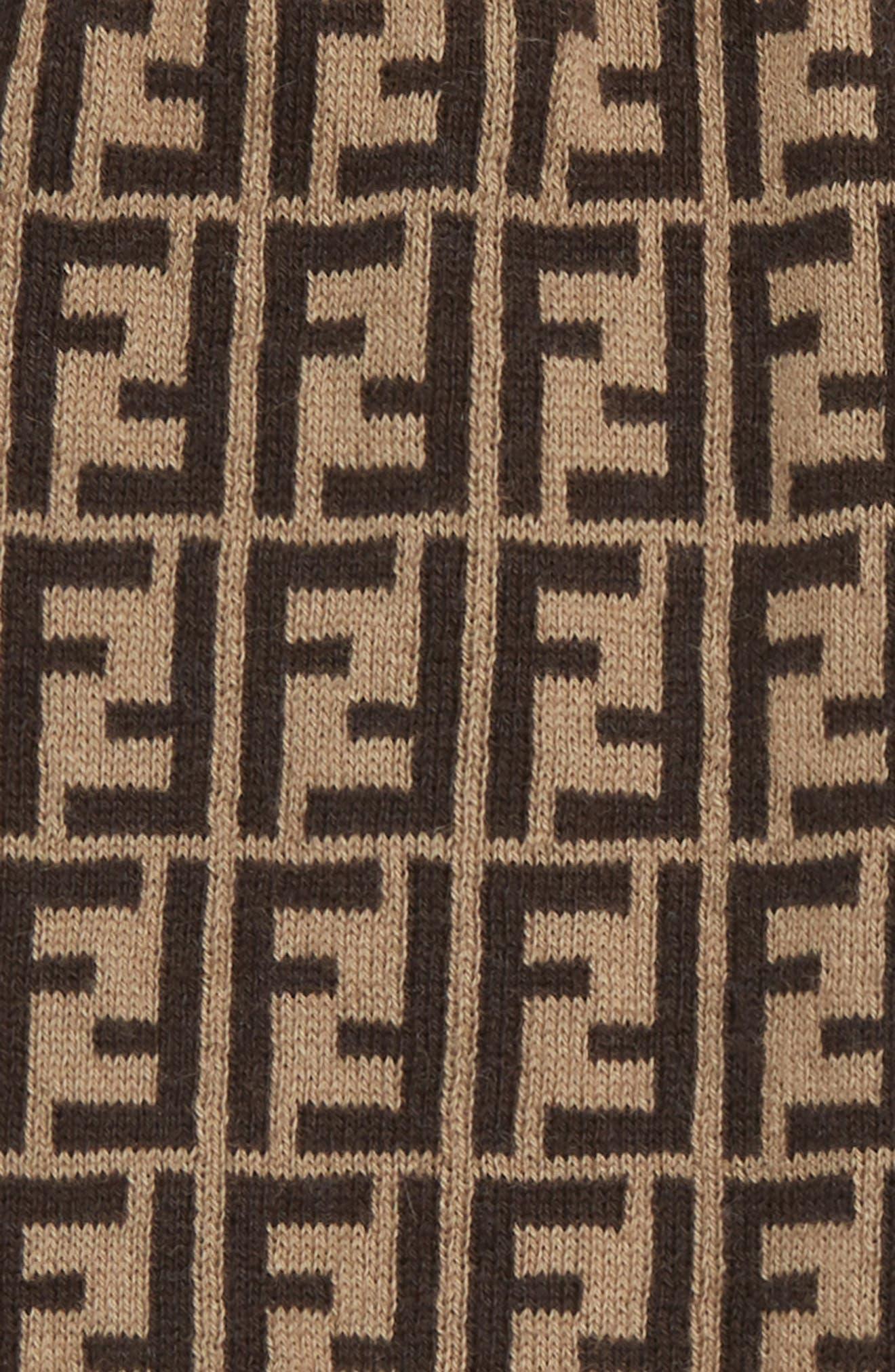 FENDI, Logo Sweater Knit Pants, Alternate thumbnail 2, color, F0LMJ BROWN