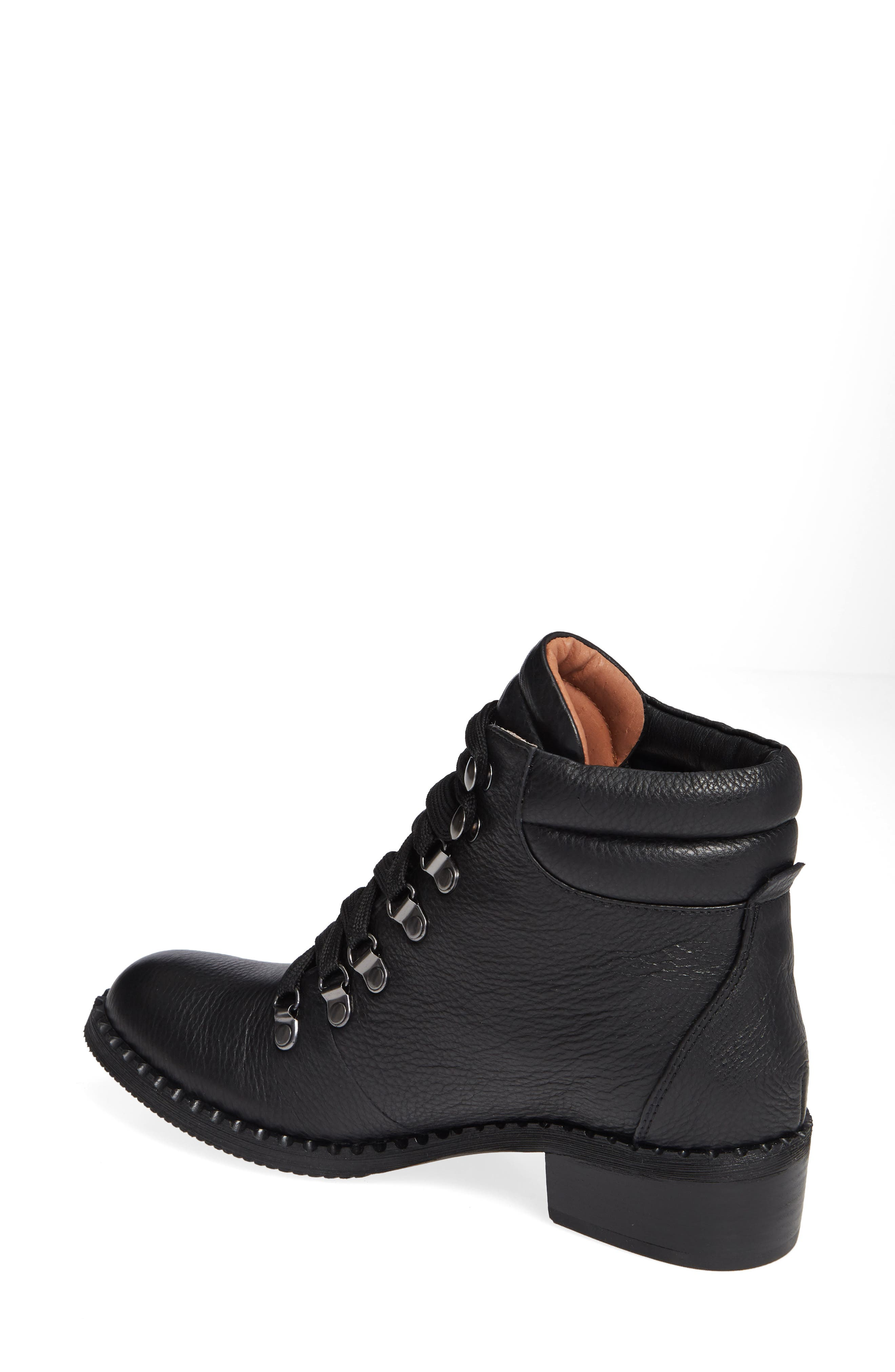 GENTLE SOULS BY KENNETH COLE, Brooklyn Combat Boot, Alternate thumbnail 2, color, BLACK LEATHER