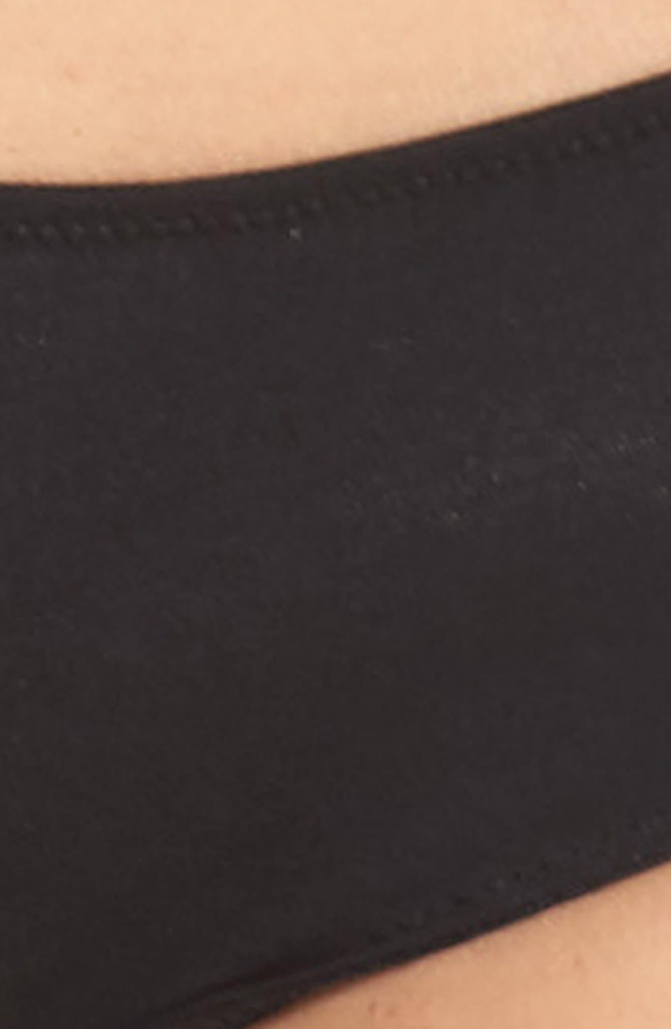 MADEWELL, Hipster Undies, Alternate thumbnail 4, color, TRUE BLACK