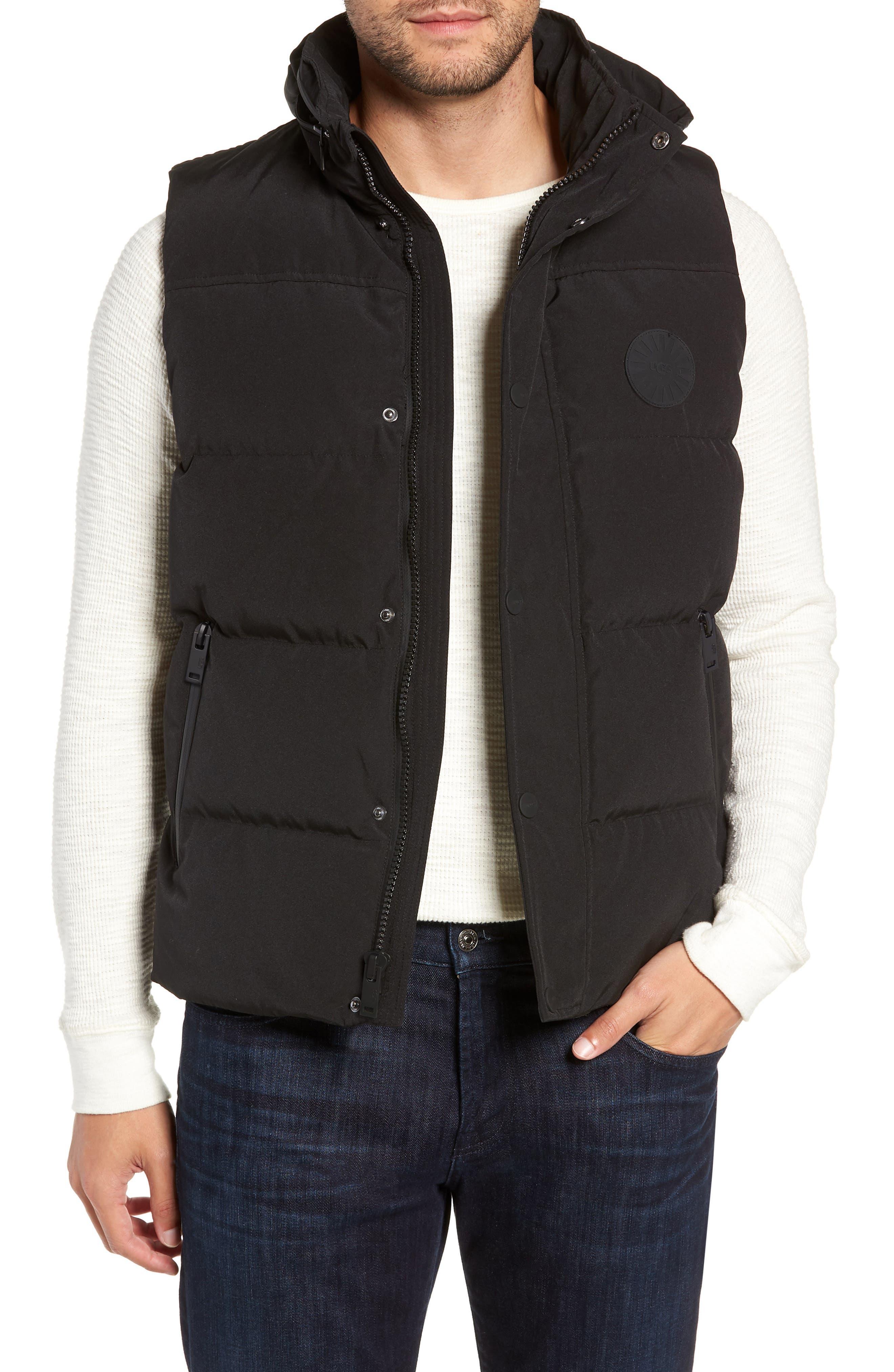 UGG<SUP>®</SUP> Nathaniel Down Vest, Main, color, BLACK