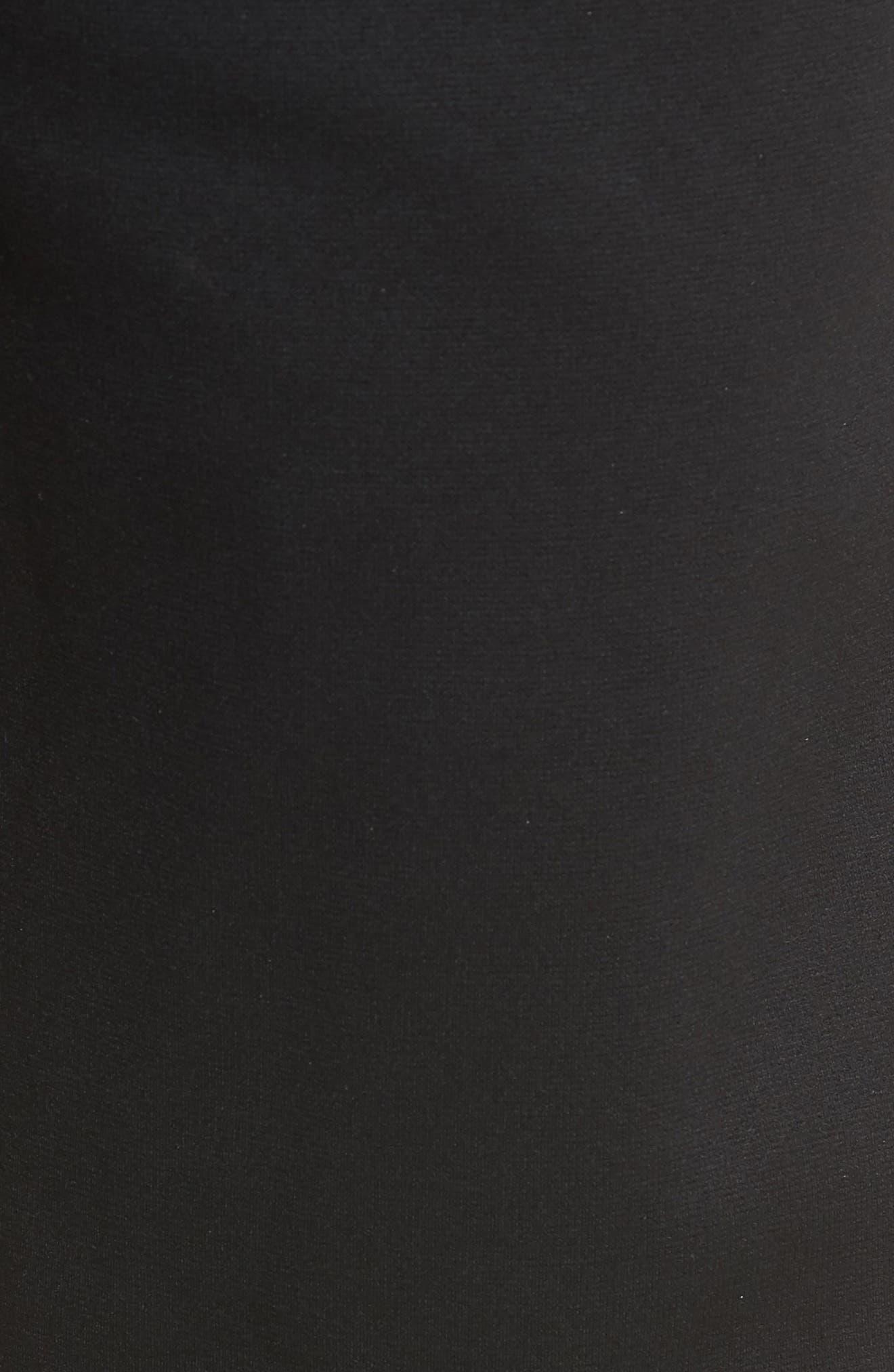 NIKE, Therma Tapered Pants, Alternate thumbnail 6, color, BLACK/ WHITE
