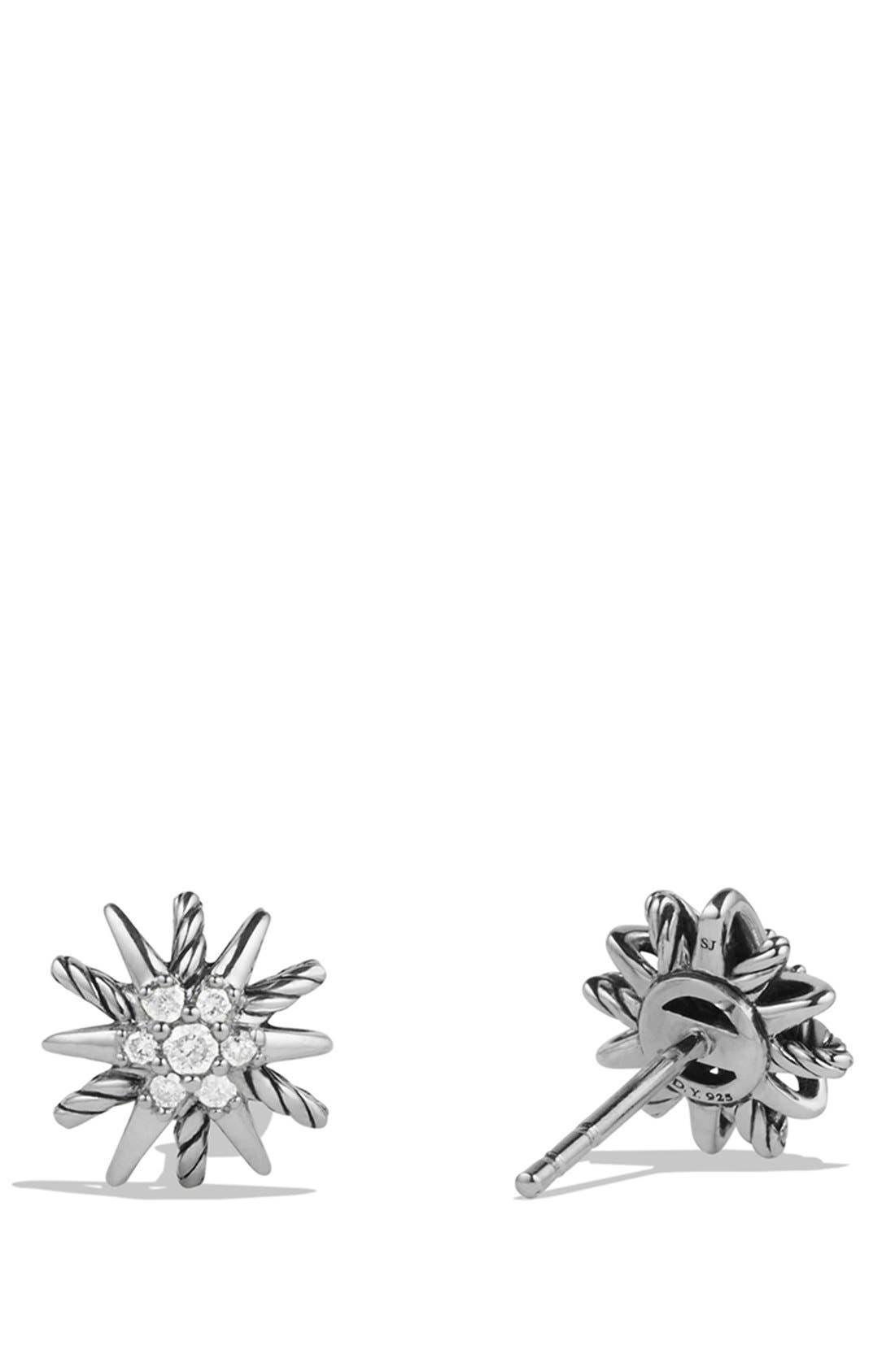 DAVID YURMAN, 'Starburst' Earrings with Diamonds, Alternate thumbnail 3, color, DIAMOND