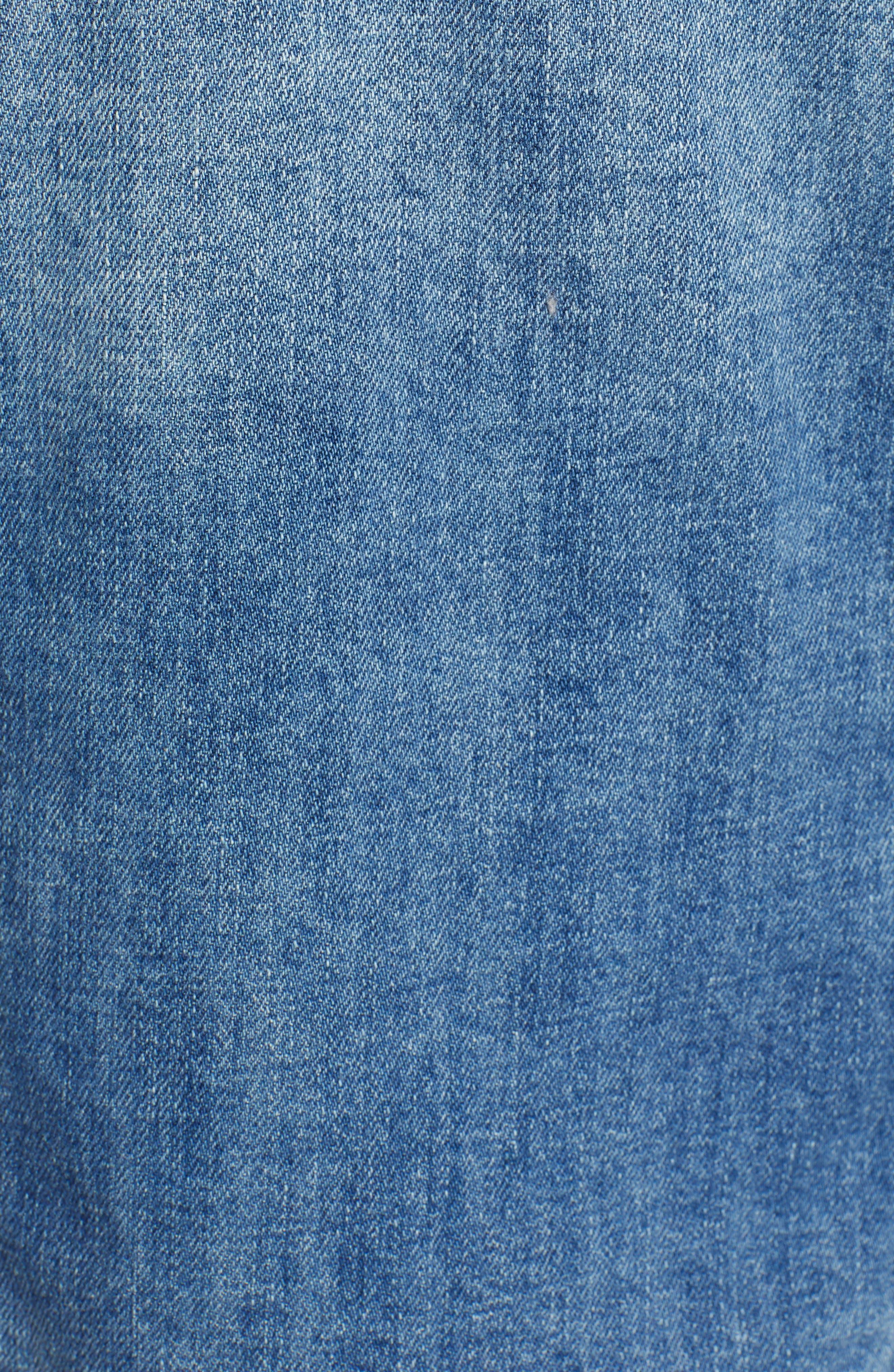 STS BLUE, Boyfriend Crop Denim Jacket, Alternate thumbnail 7, color, 400