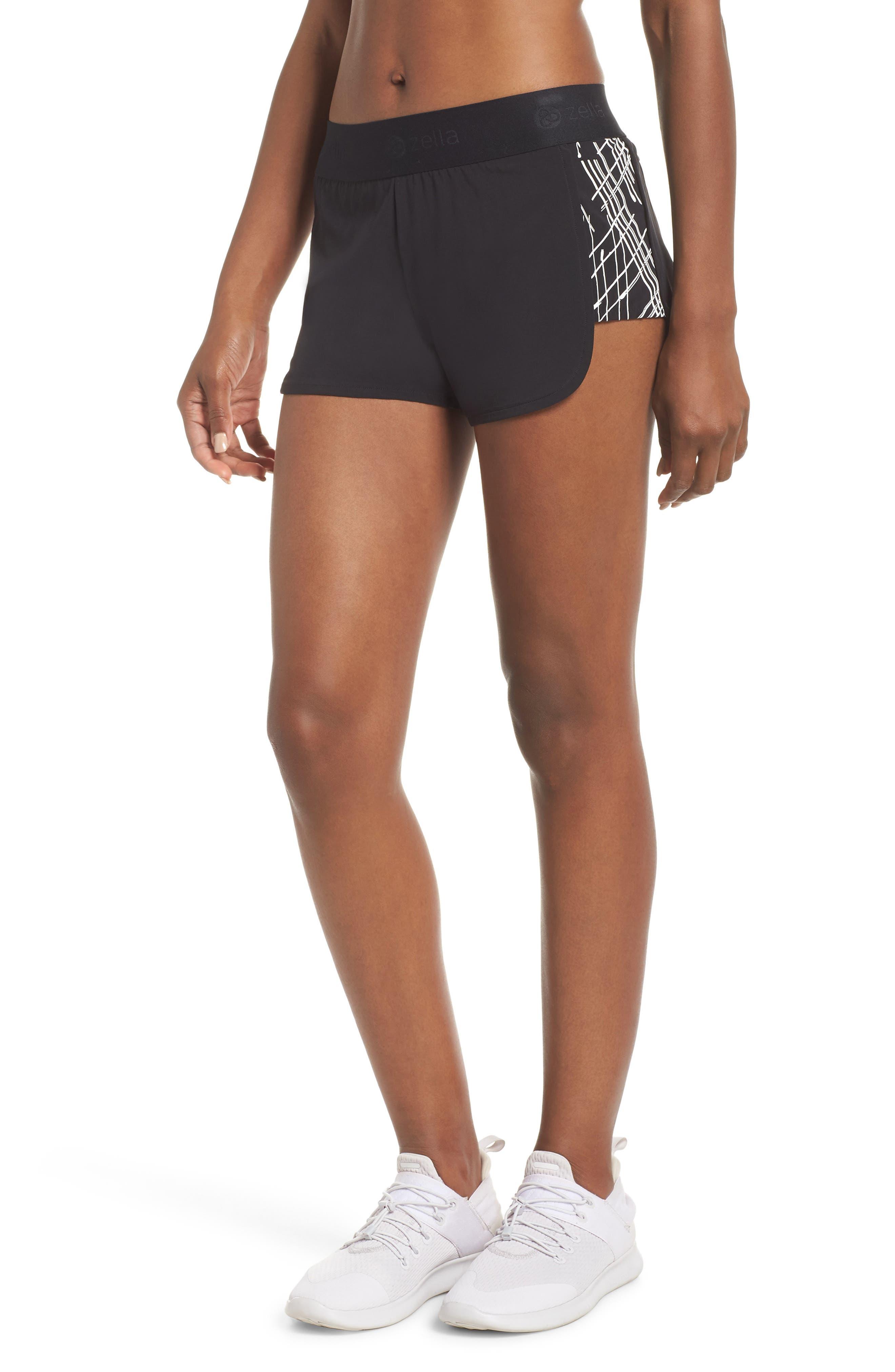 ZELLA Go Run Reflect Shorts, Main, color, BLACK
