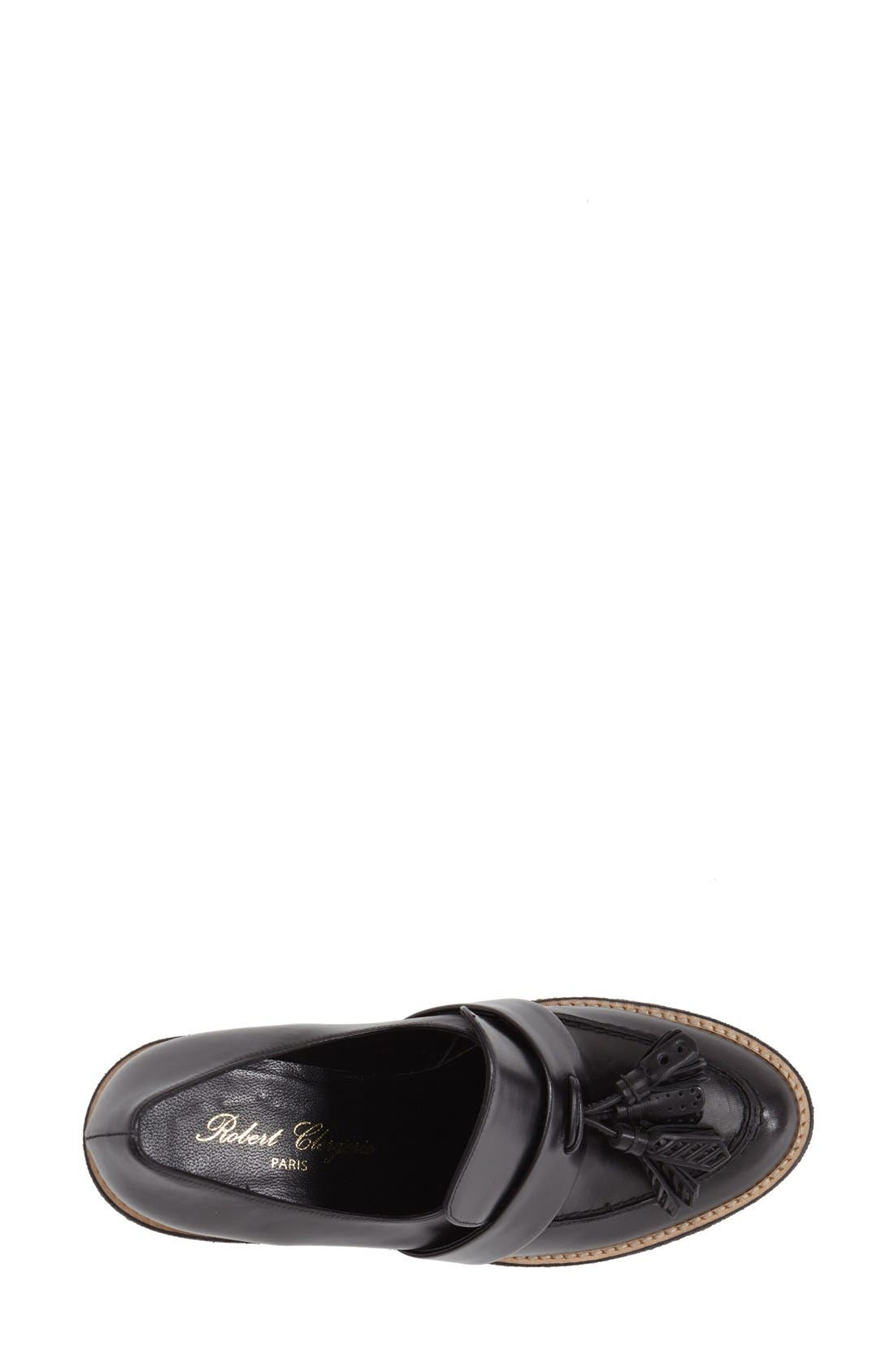 ROBERT CLERGERIE, 'Astrid' Wedge Loafer, Alternate thumbnail 2, color, 001