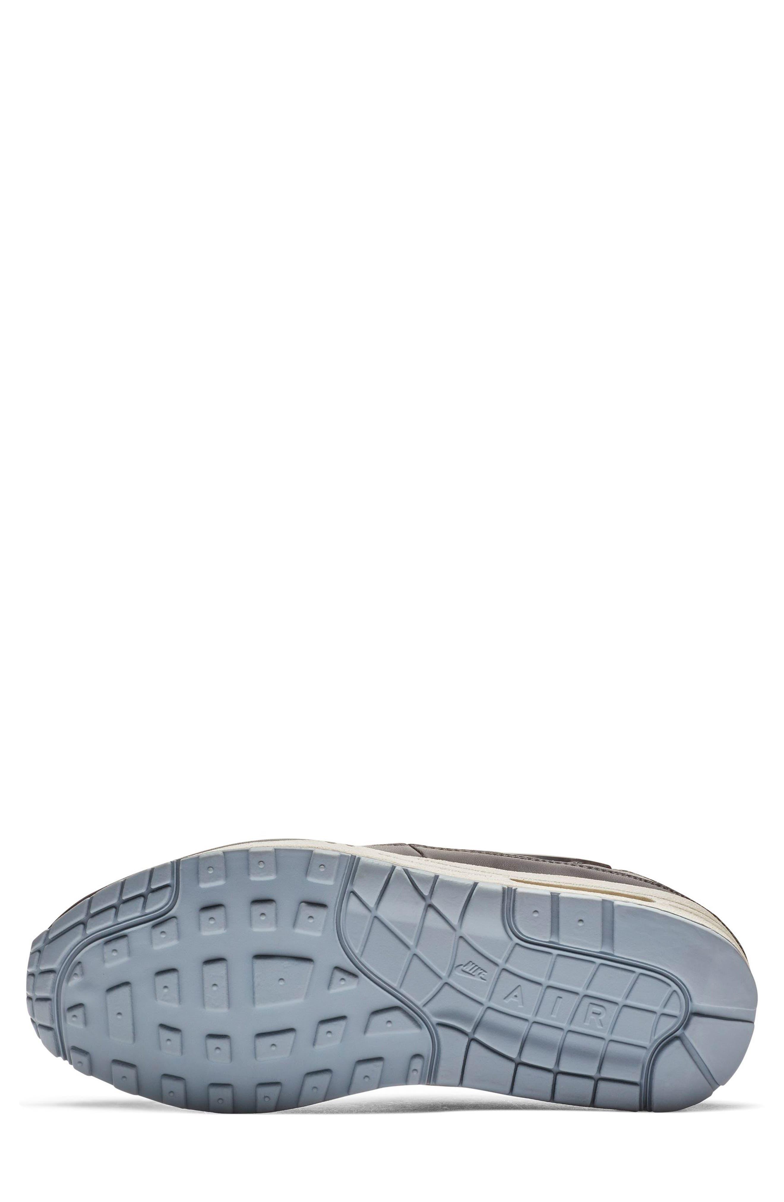 NIKE, Air Max 1 JP Sneaker, Alternate thumbnail 5, color, OIL GREY/ OBSIDIAN/ WHITE