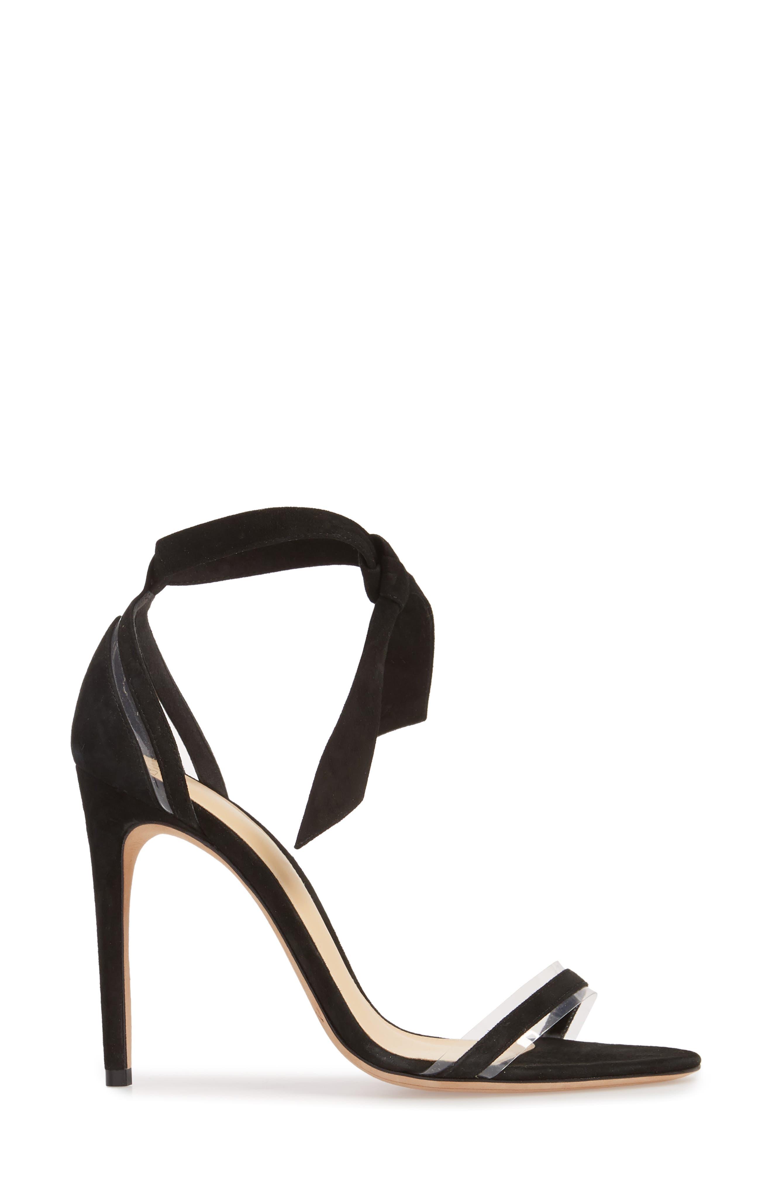 ALEXANDRE BIRMAN, Clarita Clear Ankle Tie Sandal, Alternate thumbnail 3, color, BLACK/ TRANSPARENT