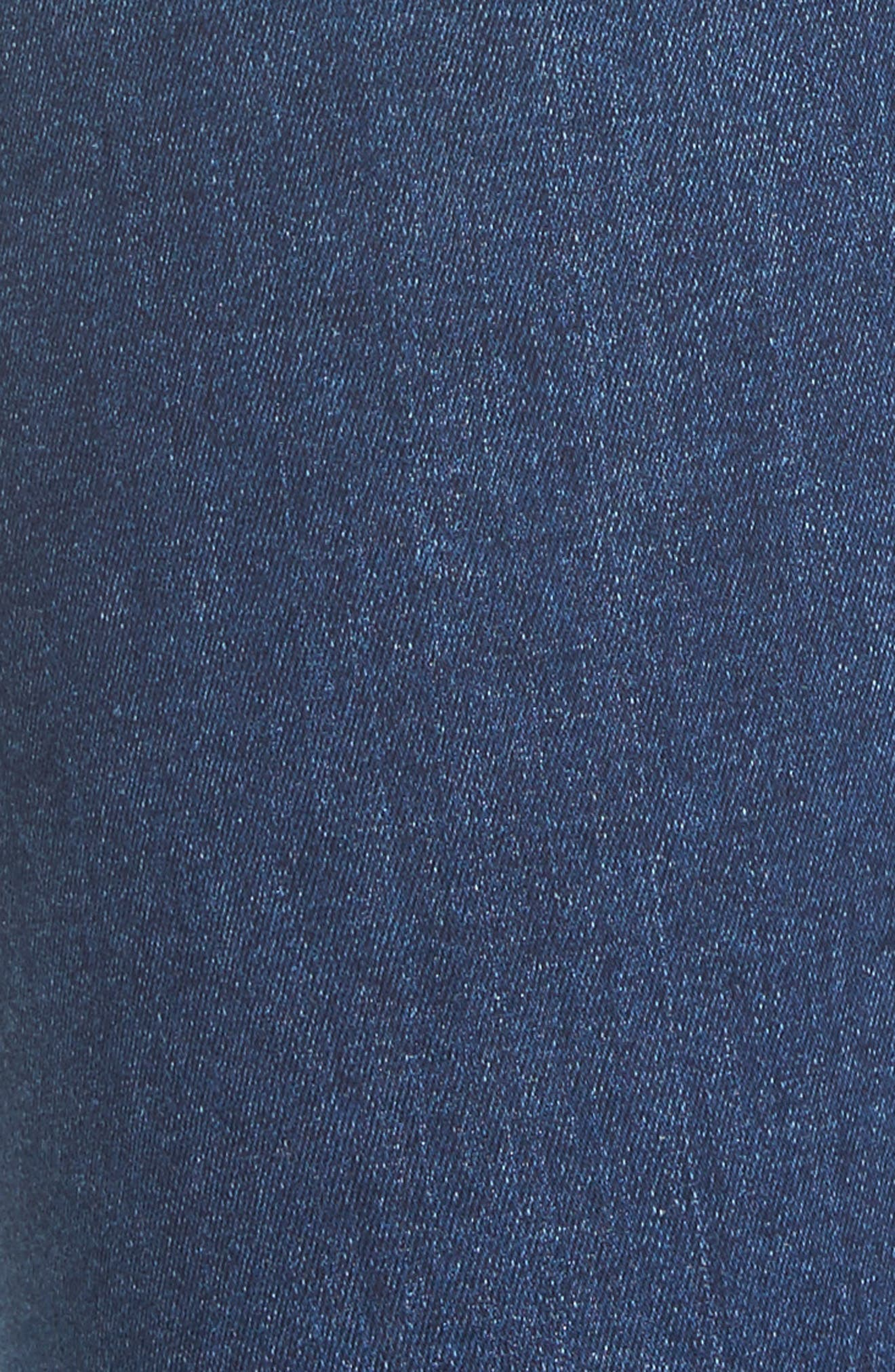 7 FOR ALL MANKIND<SUP>®</SUP>, b(air) Raw Hem Ankle Skinny Jeans, Alternate thumbnail 5, color, BAIR REIGN