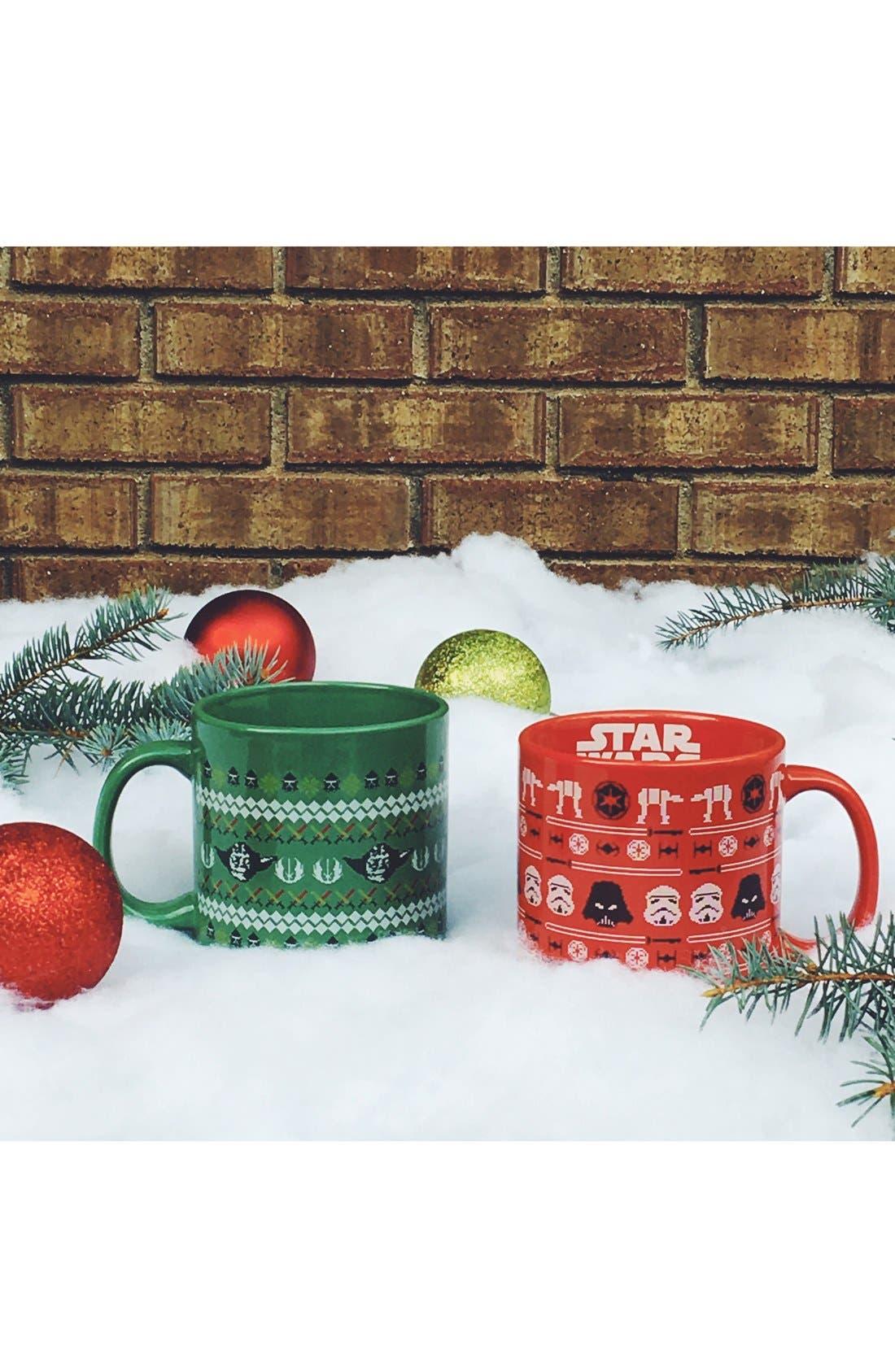 VANDOR, Star Wars Christmas Mug, Alternate thumbnail 3, color, 300
