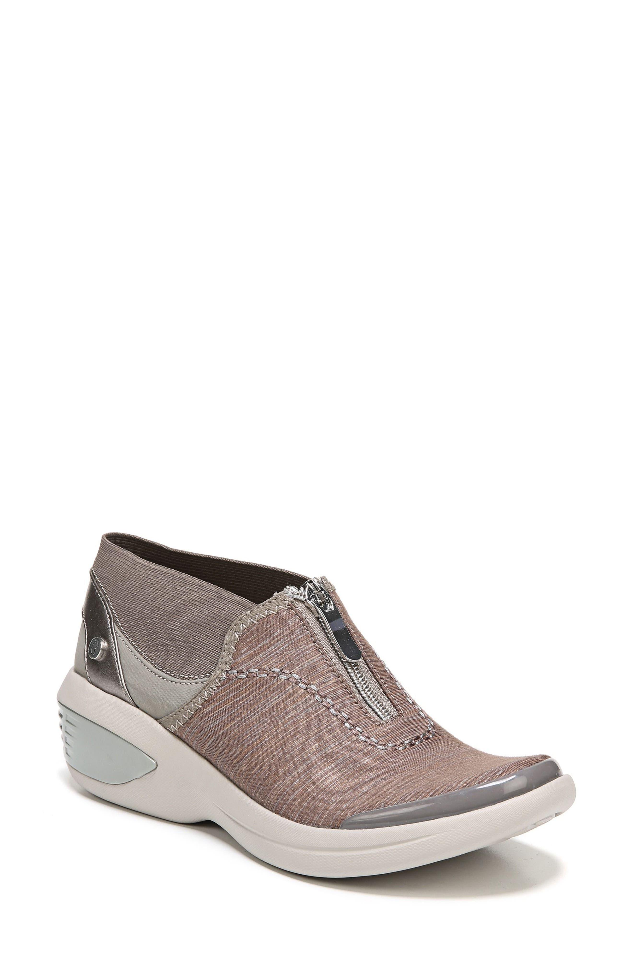 BZEES Fling Wedge Sneaker, Main, color, BROWN FABRIC