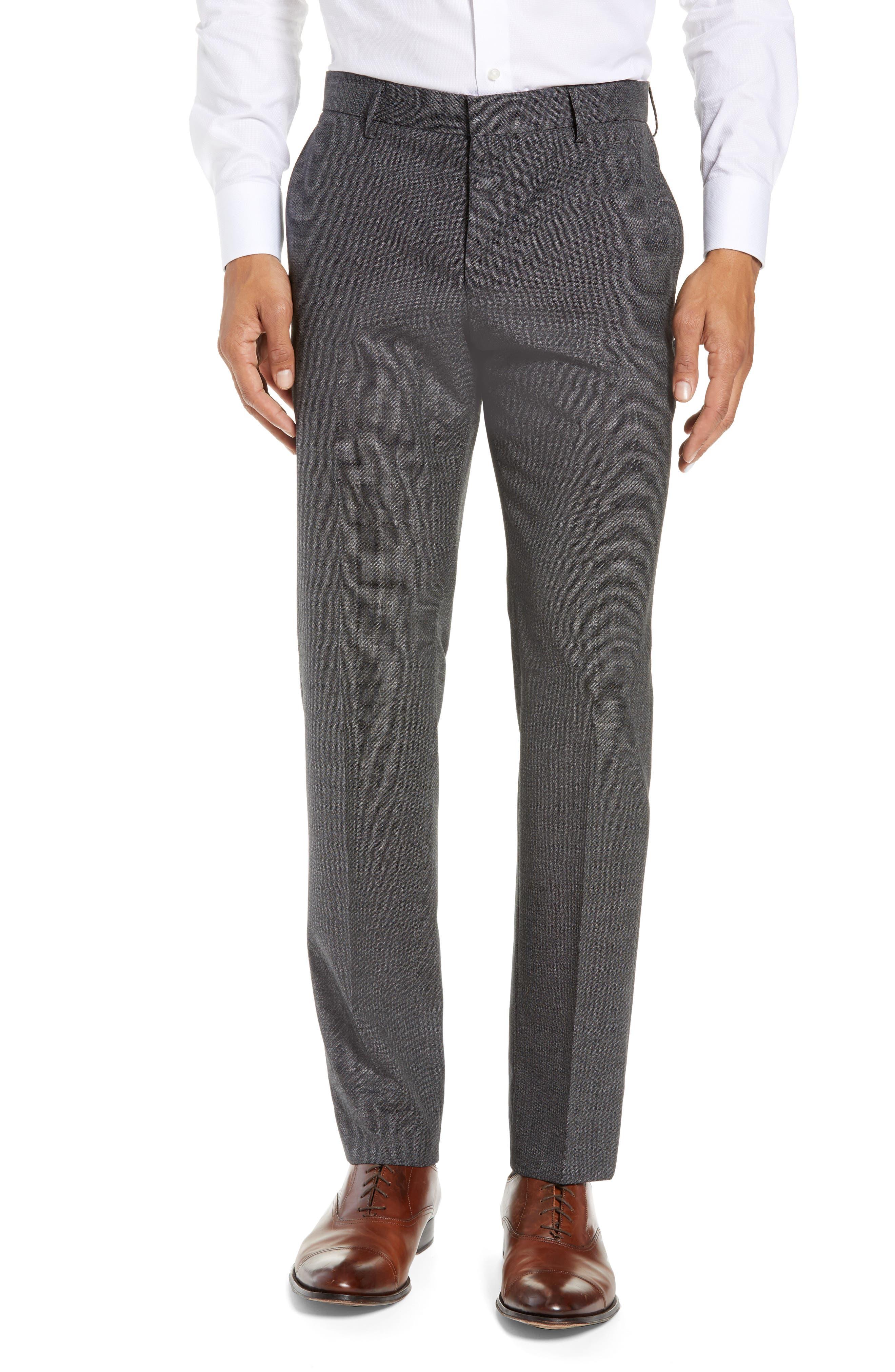 BOSS, Novan/Ben Slim Fit Solid Wool Suit, Alternate thumbnail 6, color, 063