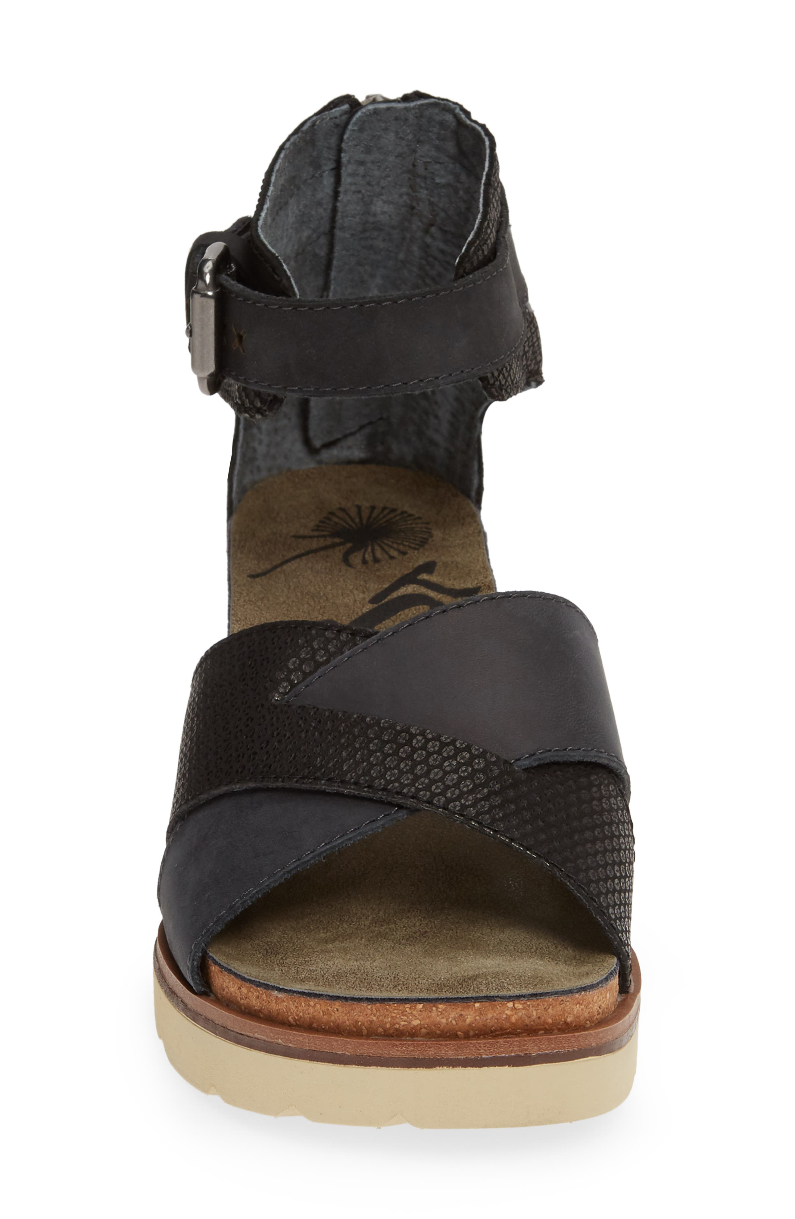 OTBT, Teamwork Ankle Strap Sandal, Alternate thumbnail 4, color, BLACK LEATHER