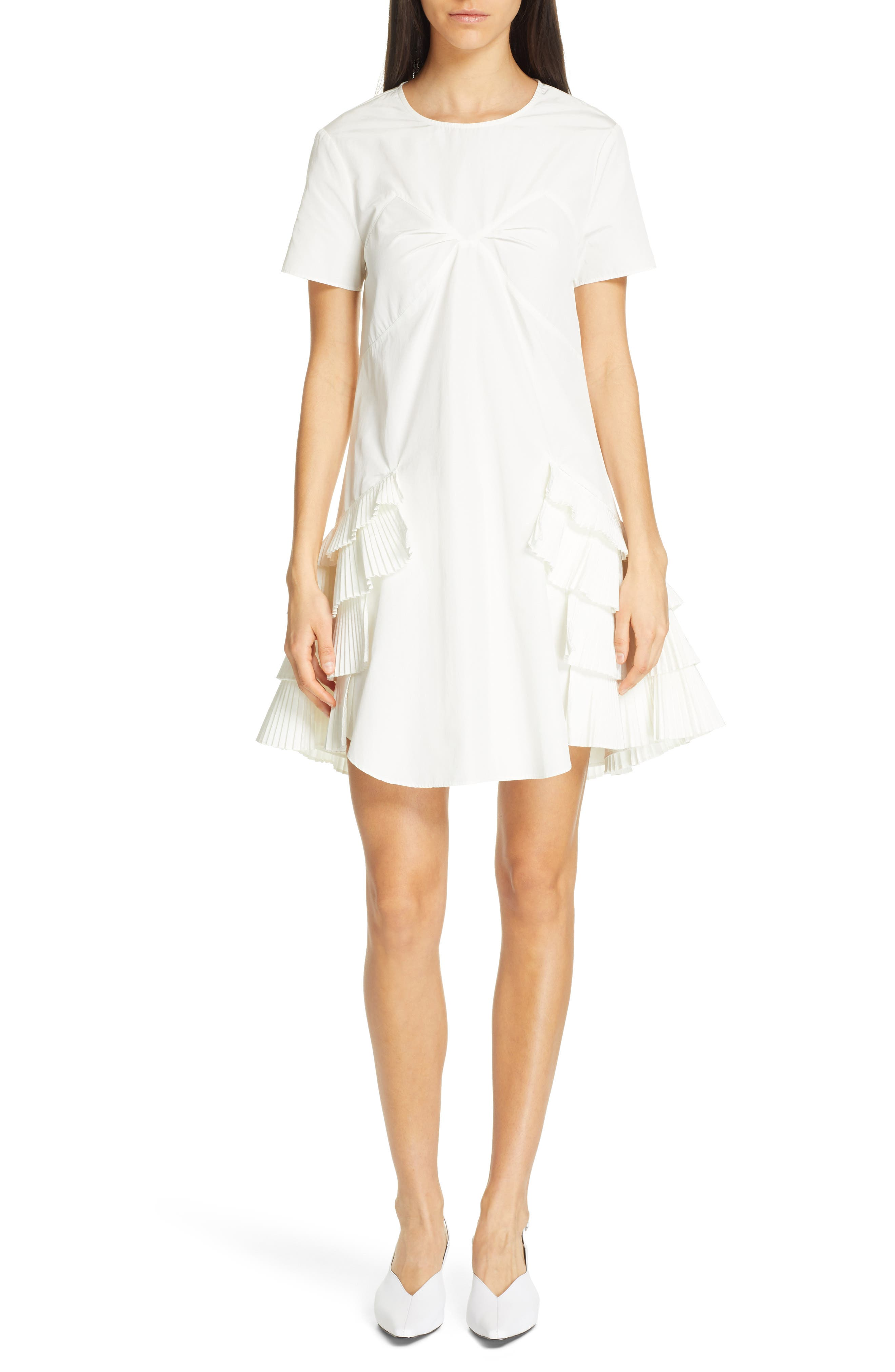 Opening Ceremony Pleated Dress, Ivory