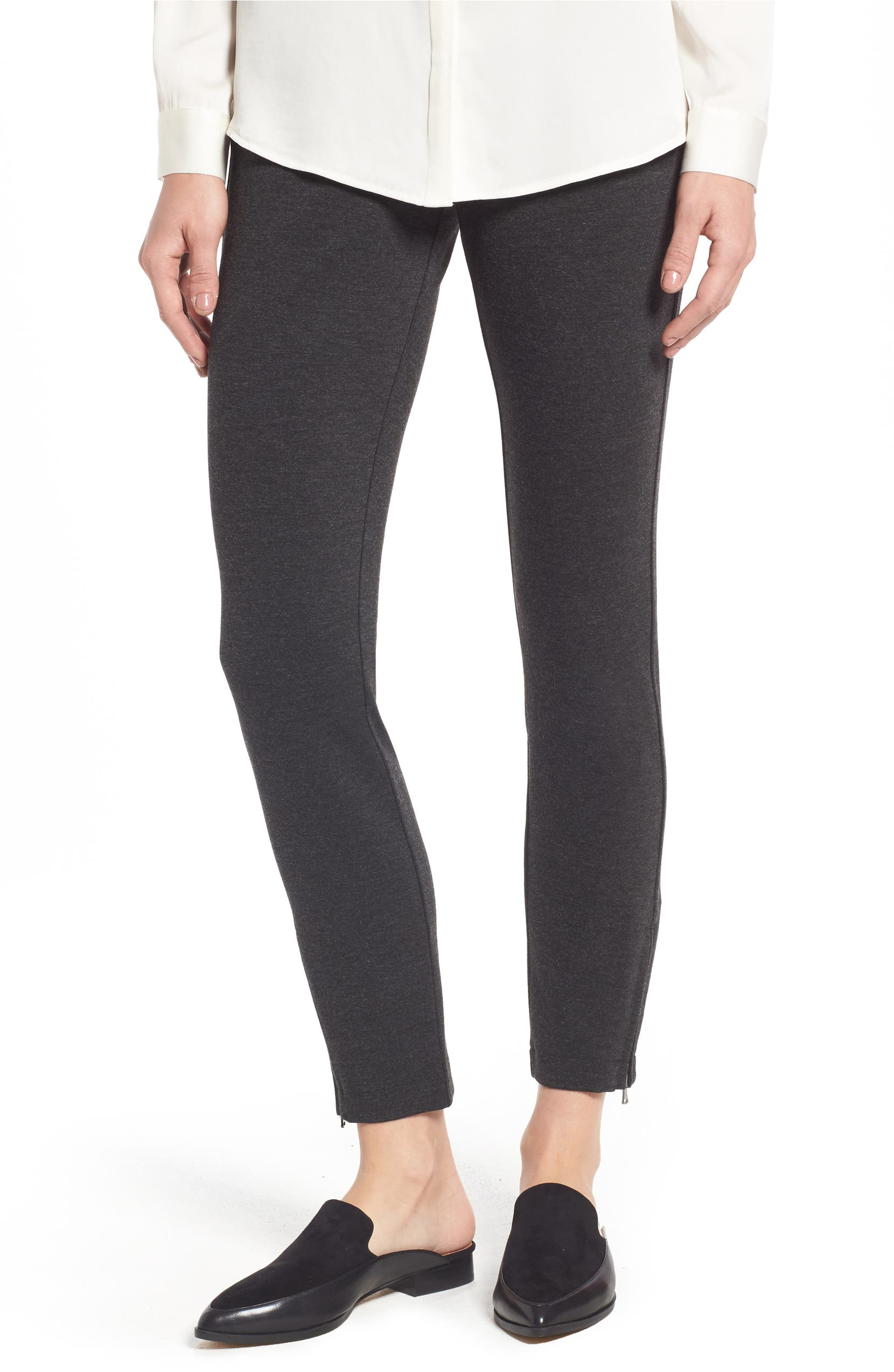 8ed02ef677858 NYDJ Zip Ankle Ponte Leggings (Regular & Petite) | Nordstrom