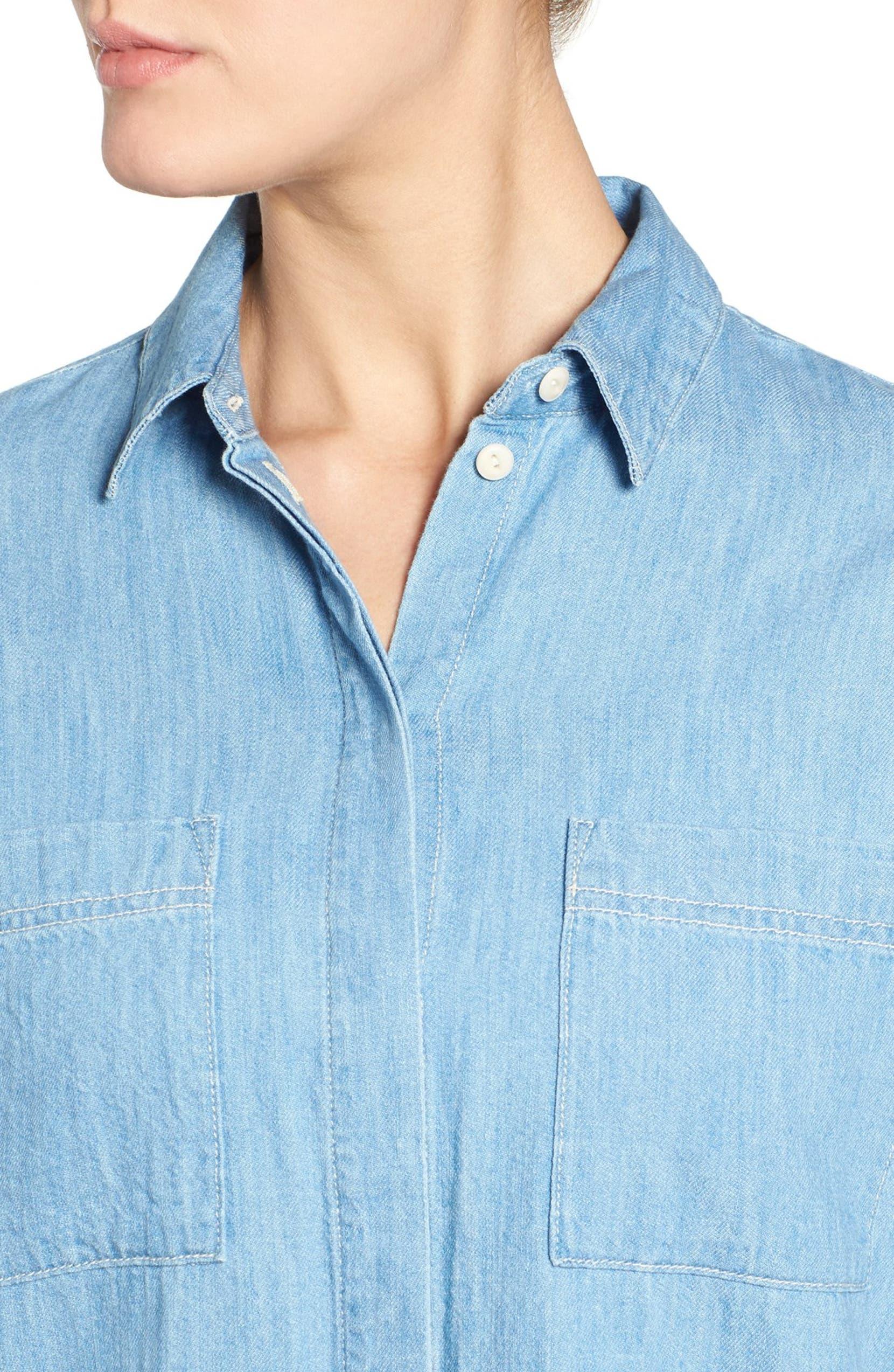 9156380338 Madewell  Courier  Denim Shirtdress