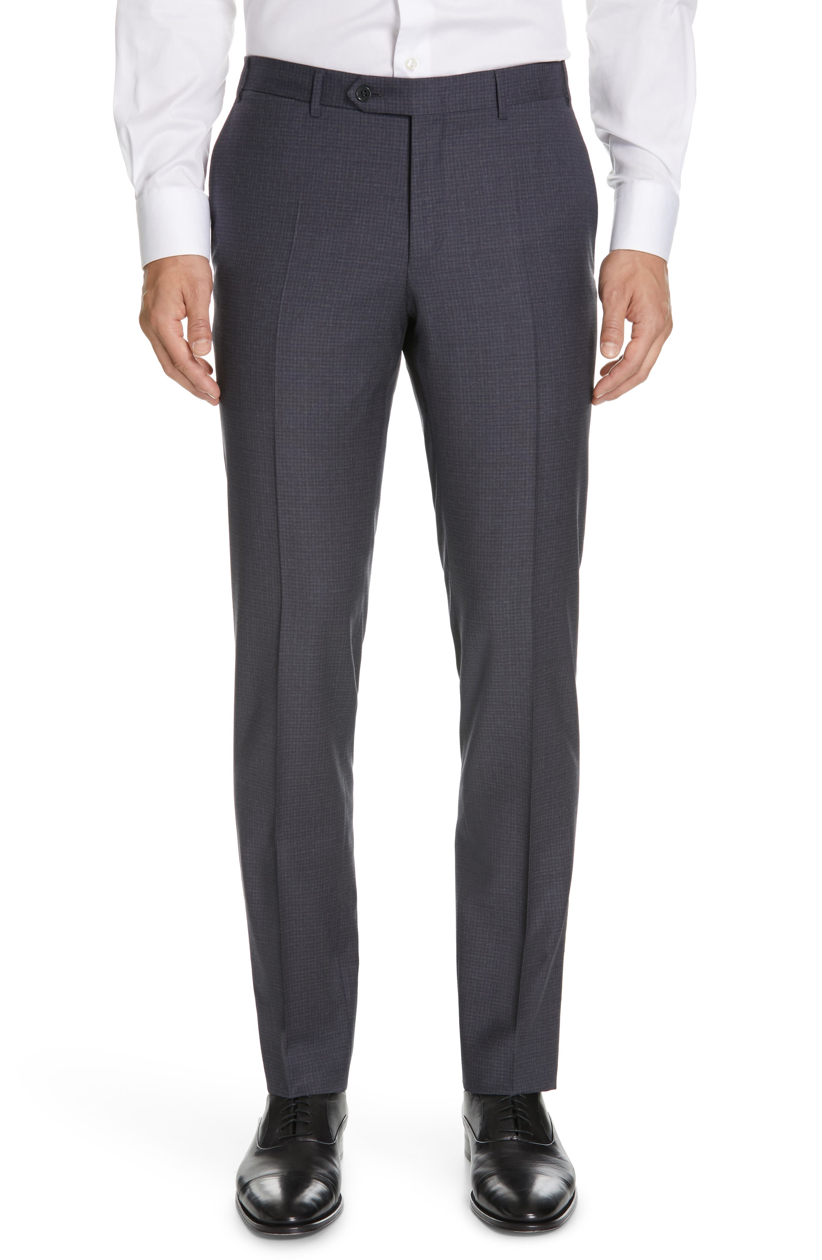 CANALI, Milano Classic Fit Check Wool Suit, Alternate thumbnail 6, color, CHARCOAL