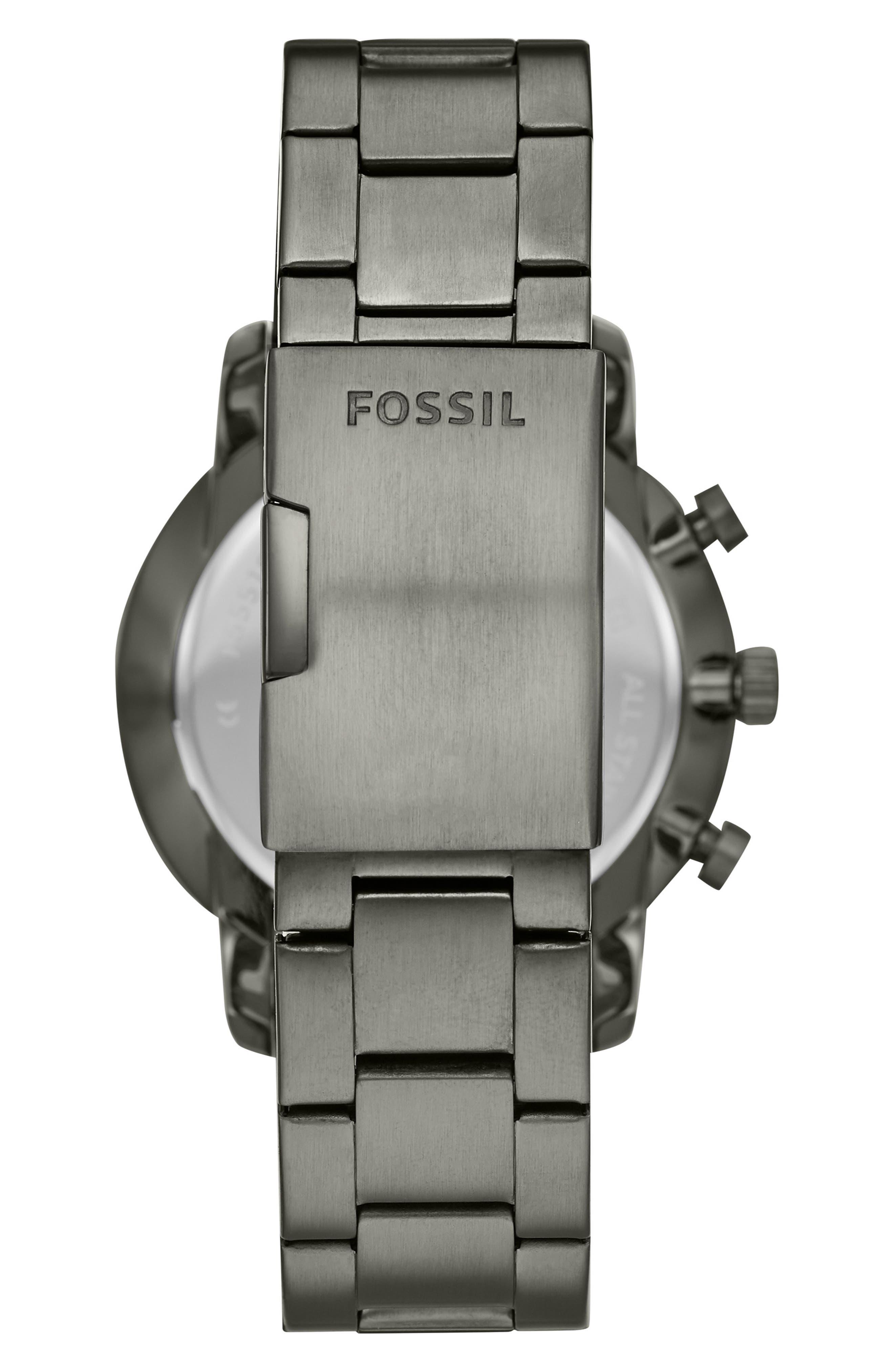 FOSSIL, Goodwin Chronometer Bracelet Watch, 44mm, Alternate thumbnail 2, color, 020