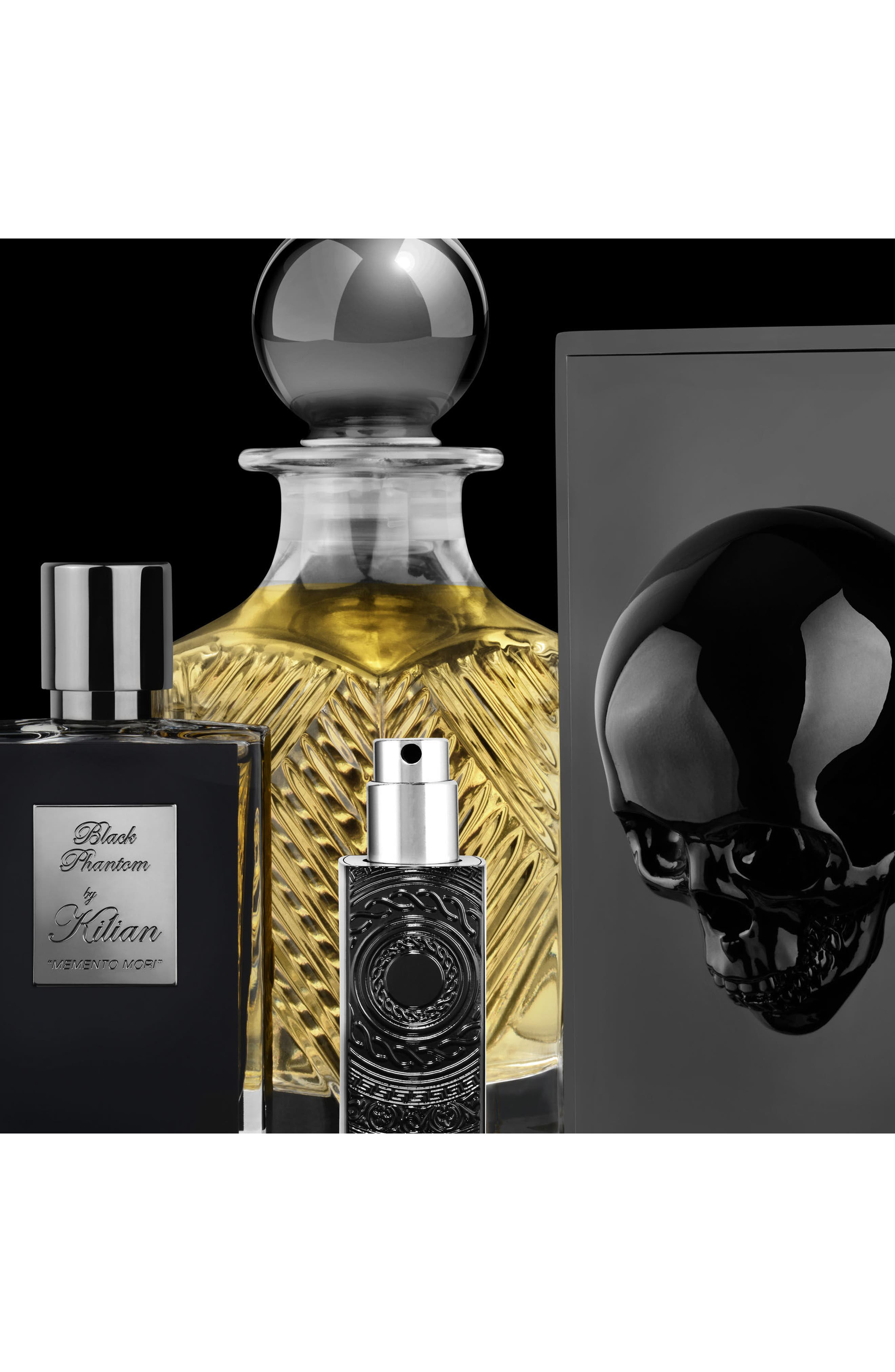 KILIAN, Black Phantom Memento Mori Eau de Parfum Refillable Spray, Alternate thumbnail 3, color, NO COLOR