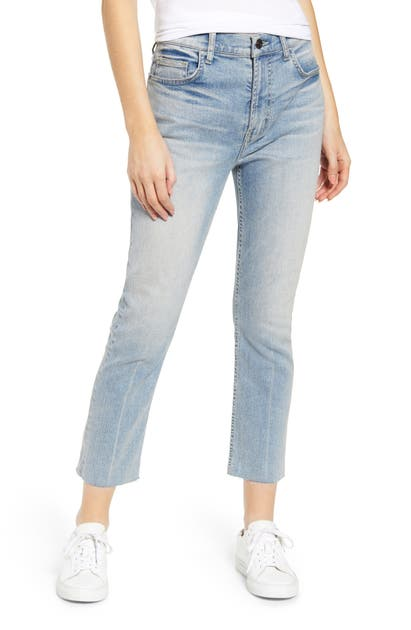 Current Elliott Jeans THE STOVEPIPE HIGH WAIST RAW HEM JEANS
