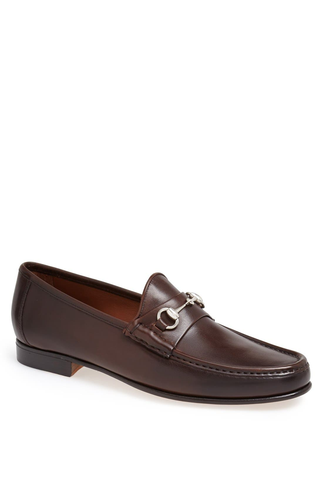 ALLEN EDMONDS, Verona II Bit Loafer, Main thumbnail 1, color, BROWN/ BROWN