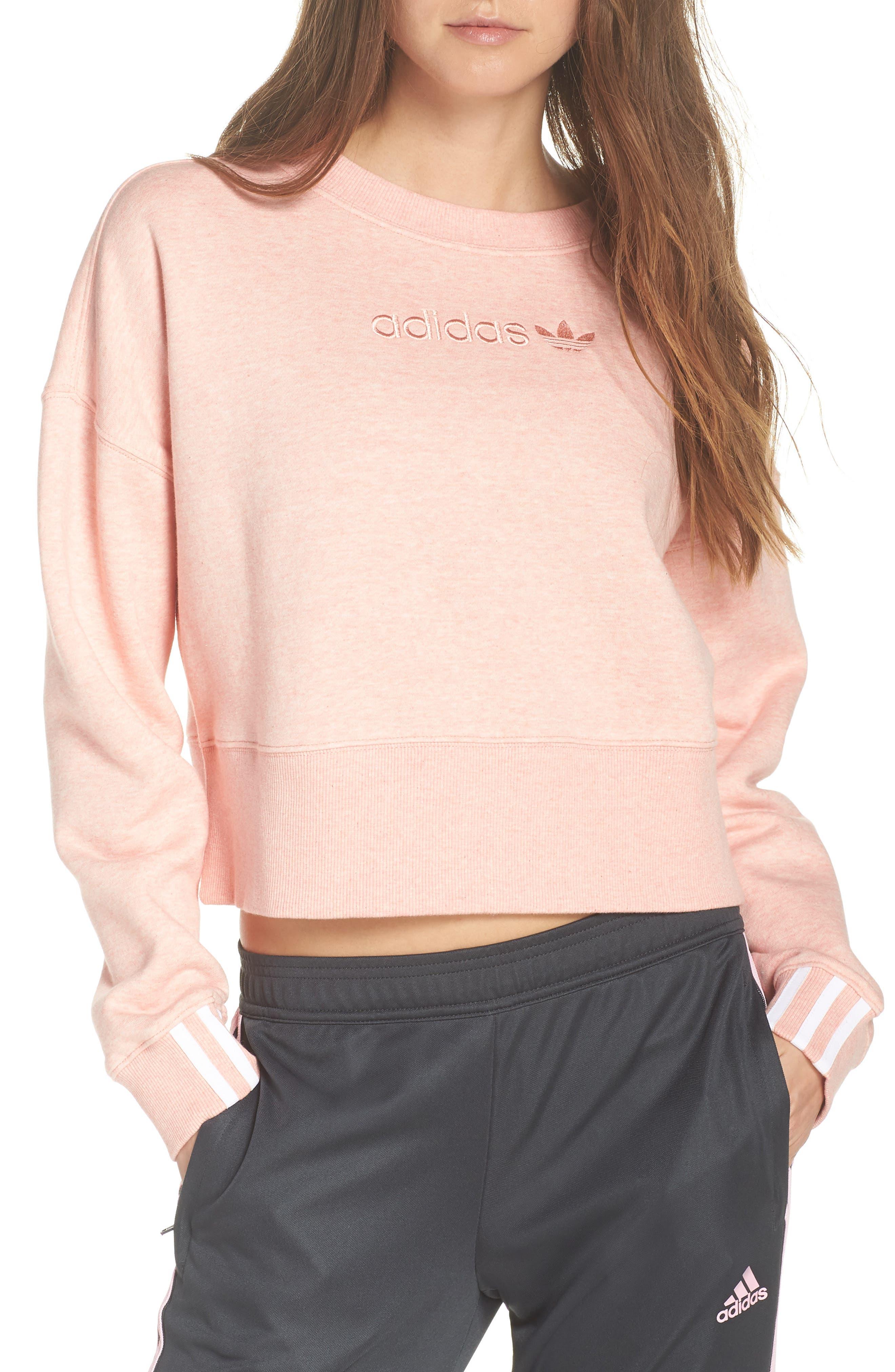 ADIDAS ORIGINALS, adidas Coeeze Crop Sweatshirt, Main thumbnail 1, color, 650